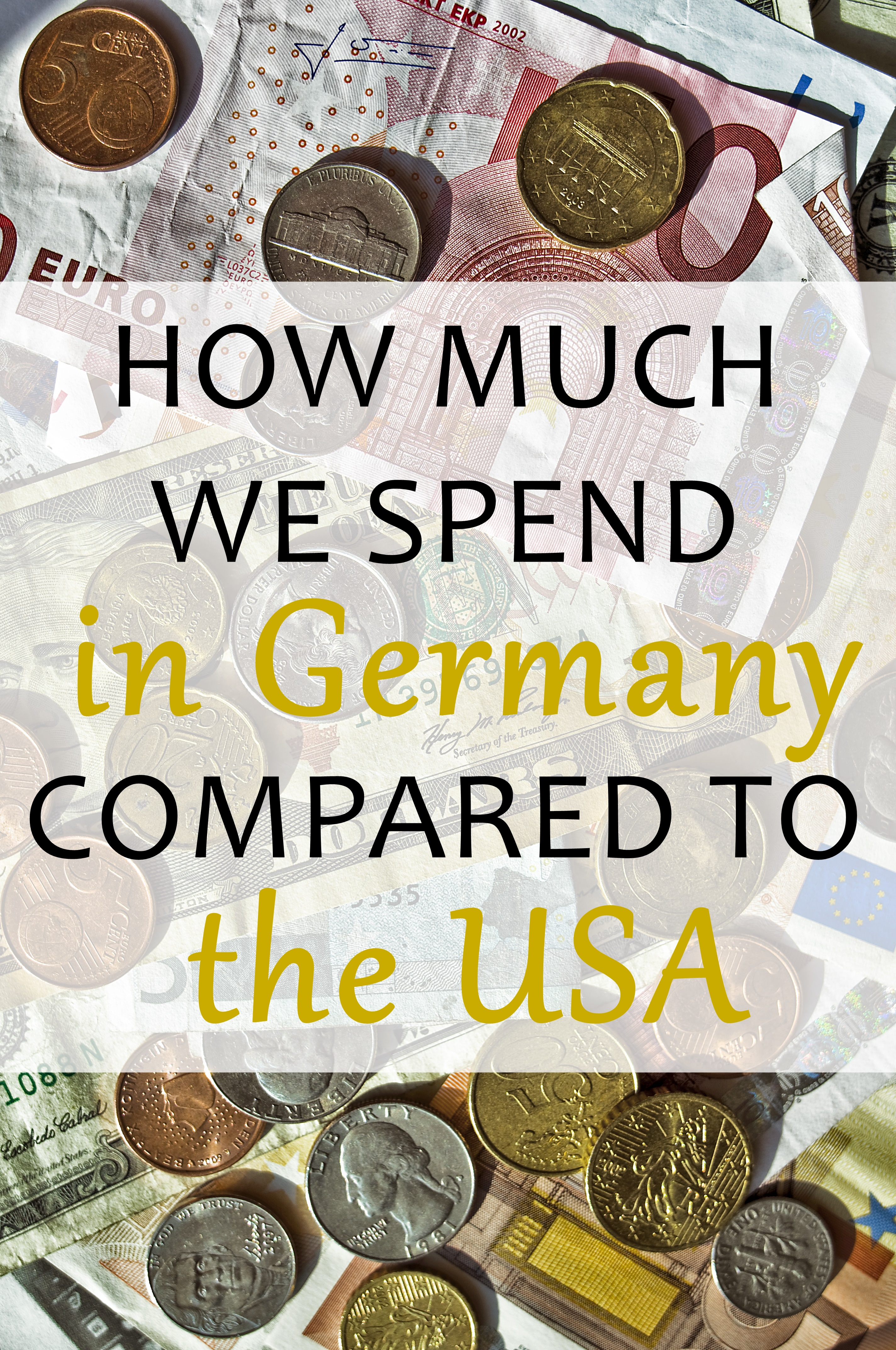 Our Cost of Living in Germany Compared to the USA: here's an overview of how much we've spent on food, healthcare, and travel.