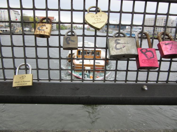 Love locks in Berlin.
