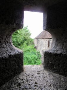 A small window. | Walking Along the Wall of Rothenburg ob der Tauber.