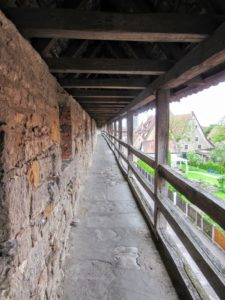 The covered pathway. | Walking Along the Wall of Rothenburg ob der Tauber.