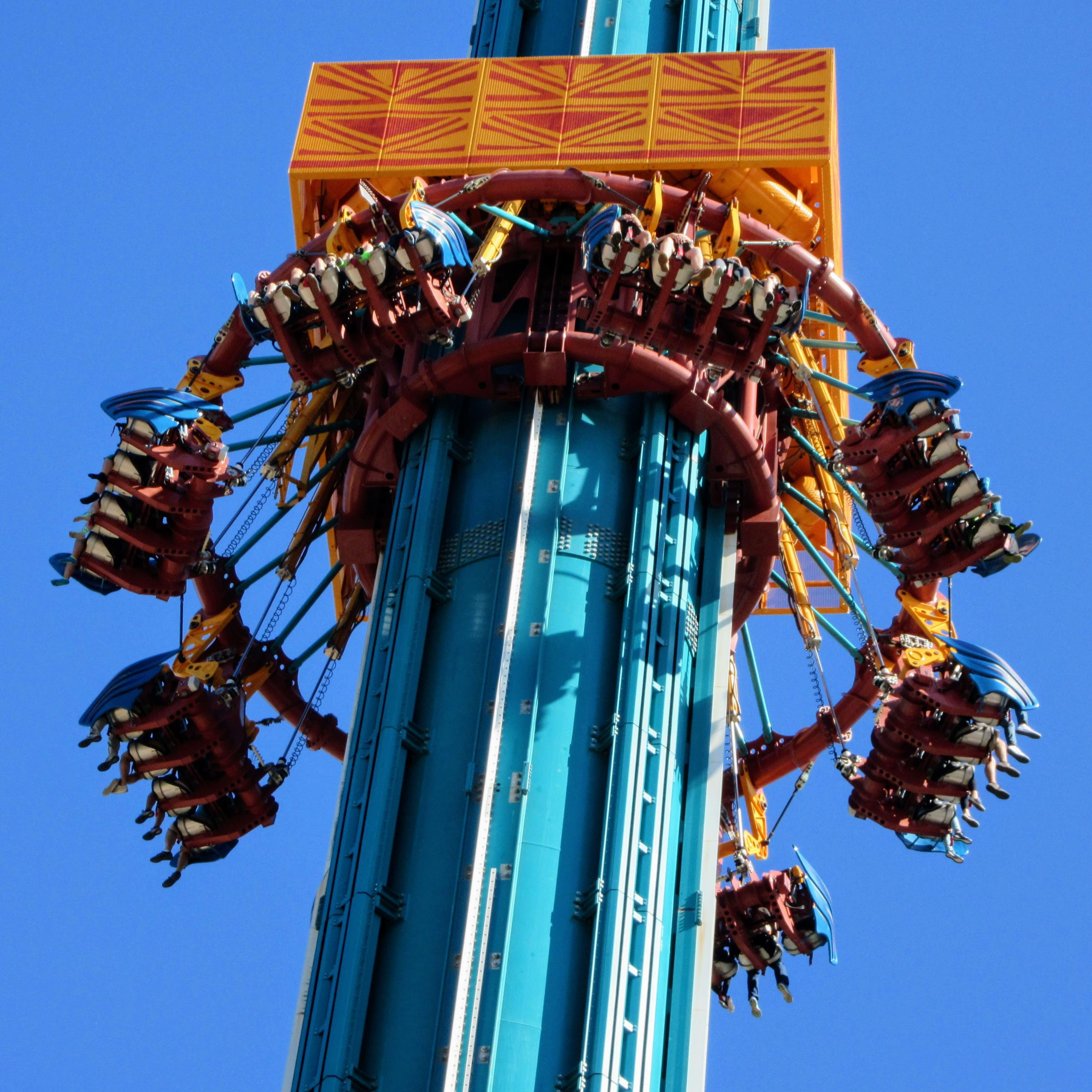 Falcons fury – a drop tower. | Visiting Busch Gardens Tampa Bay.