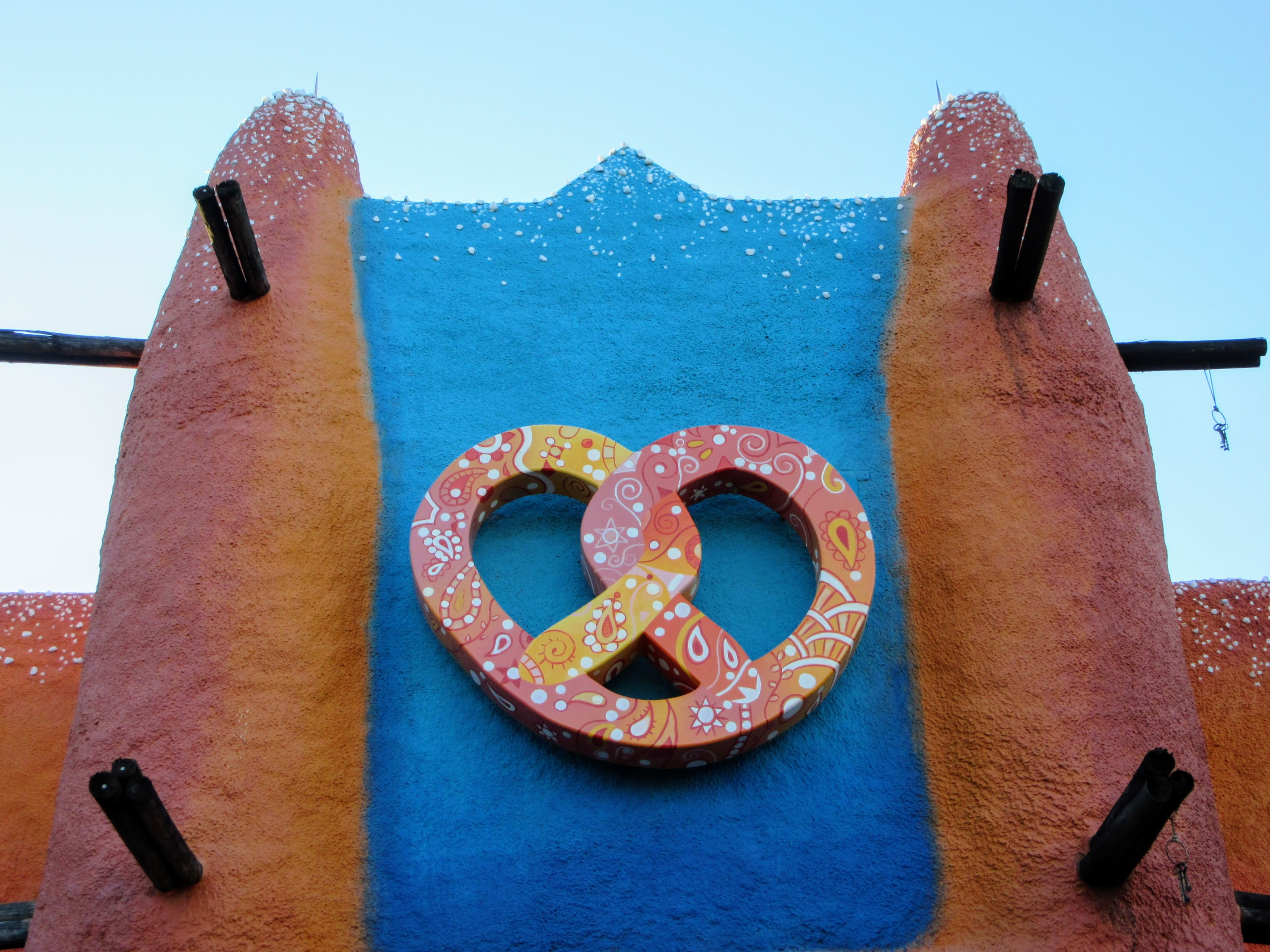 Colorful pretzel sign. | Visiting Busch Gardens Tampa Bay.