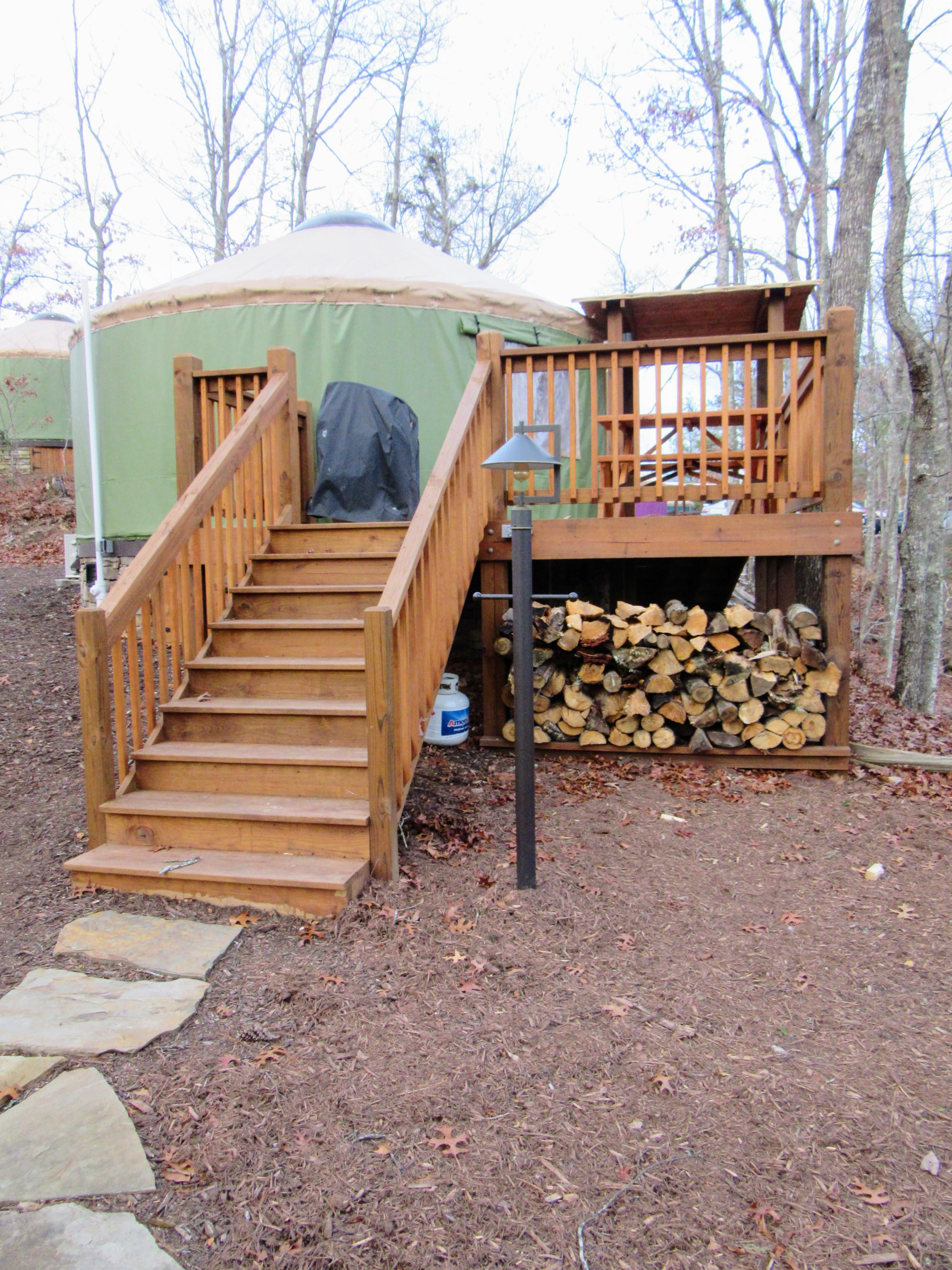 Insert Back of the yurt. | Glamping NC: the Sky Ridge Yurts.