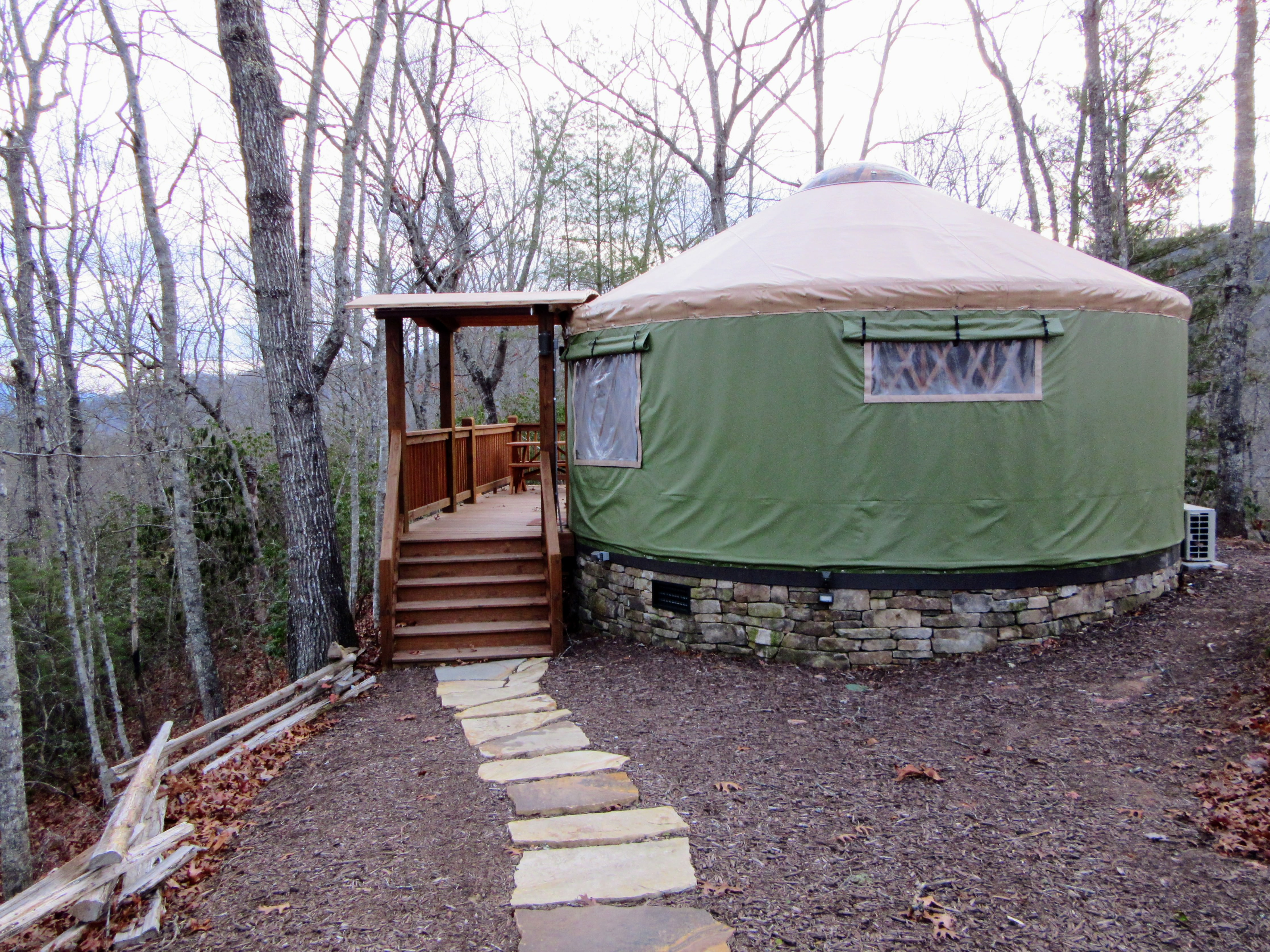 Tuckaseegee yurt. | Glamping at the Sky Ridge Yurts.