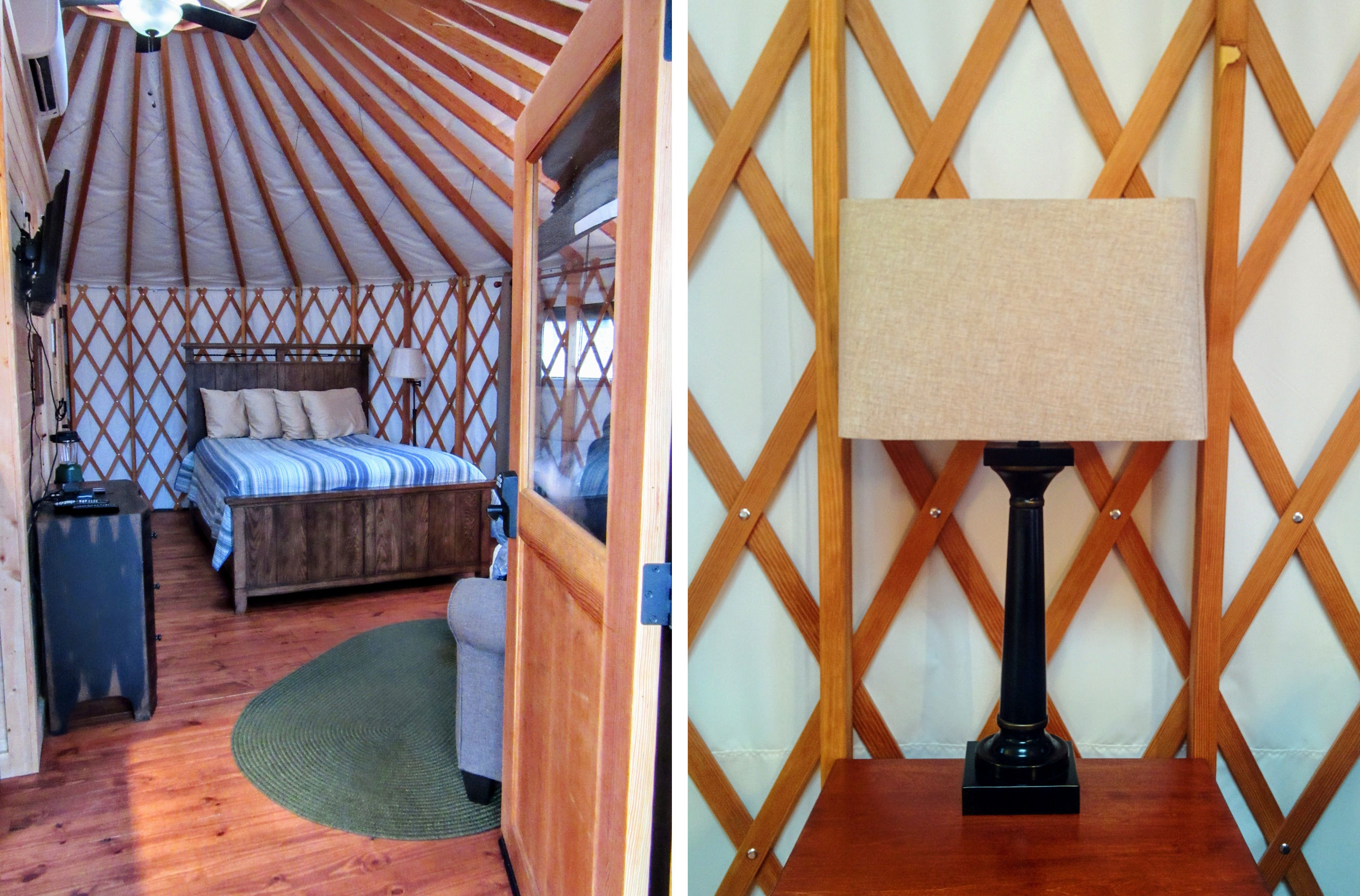 Inside our yurt. | Glamping at the Sky Ridge Yurts.