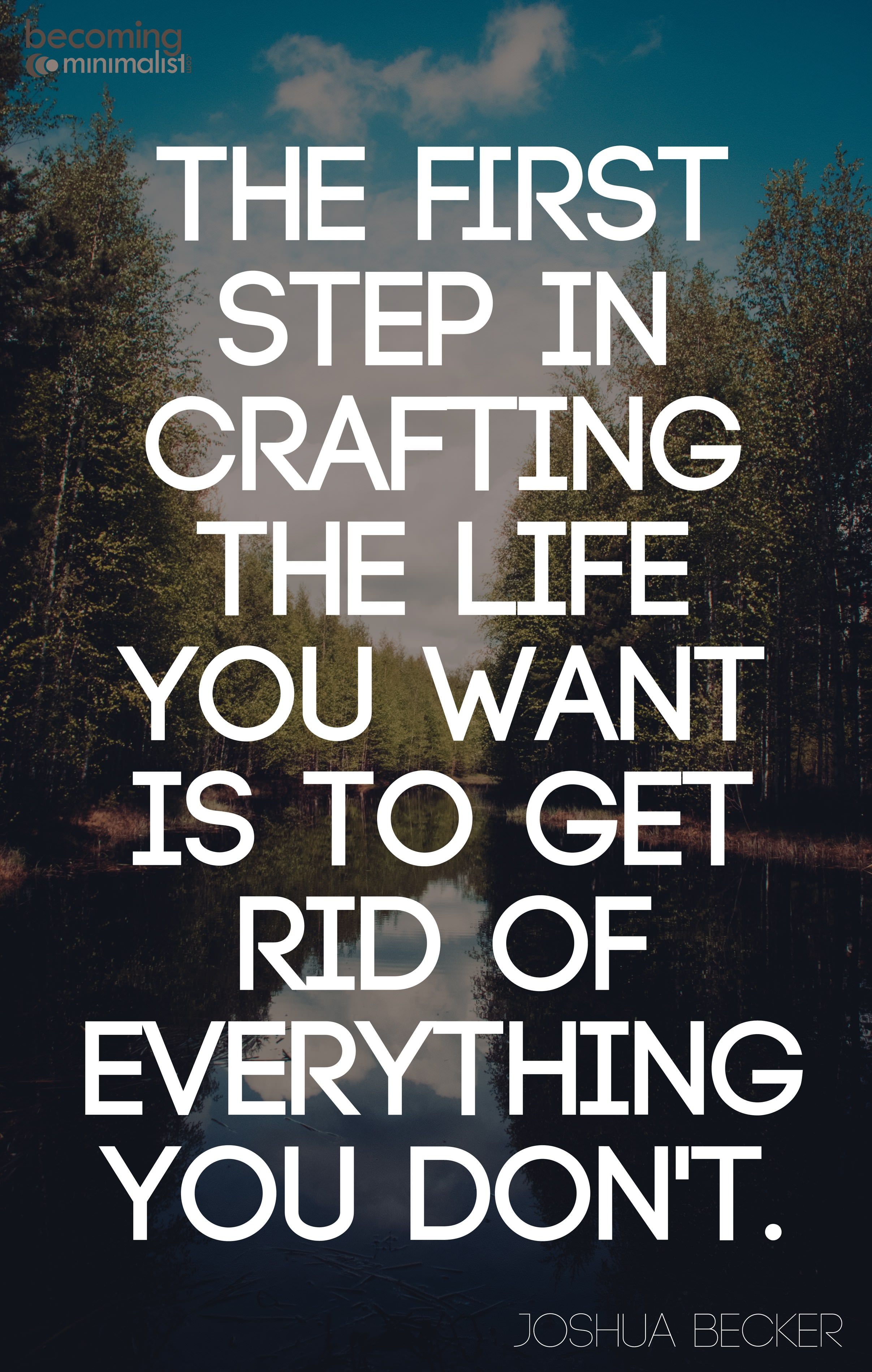 Crafting your life. | becoming minimalist
