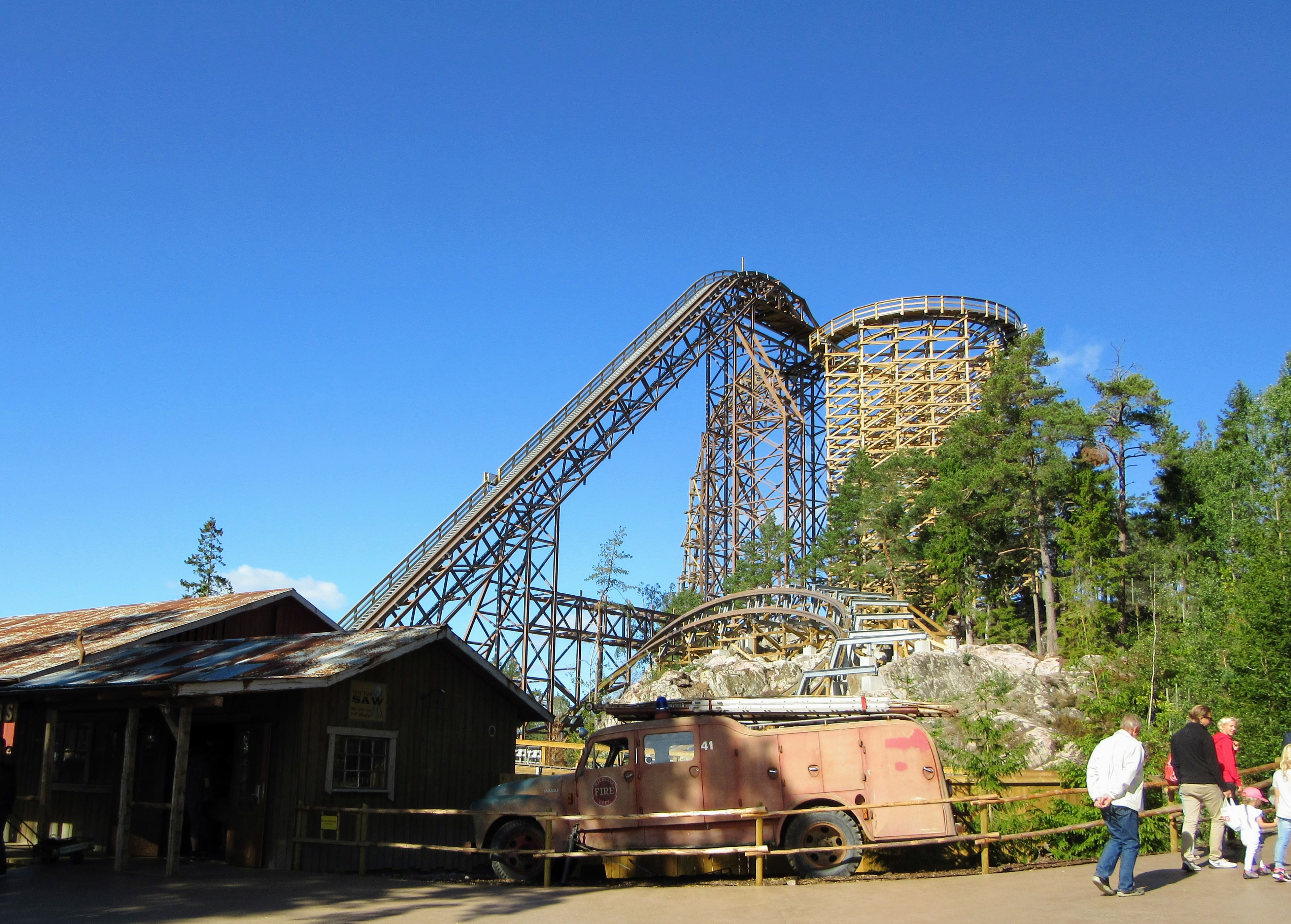Wildfire roller coaster at Kolmården.