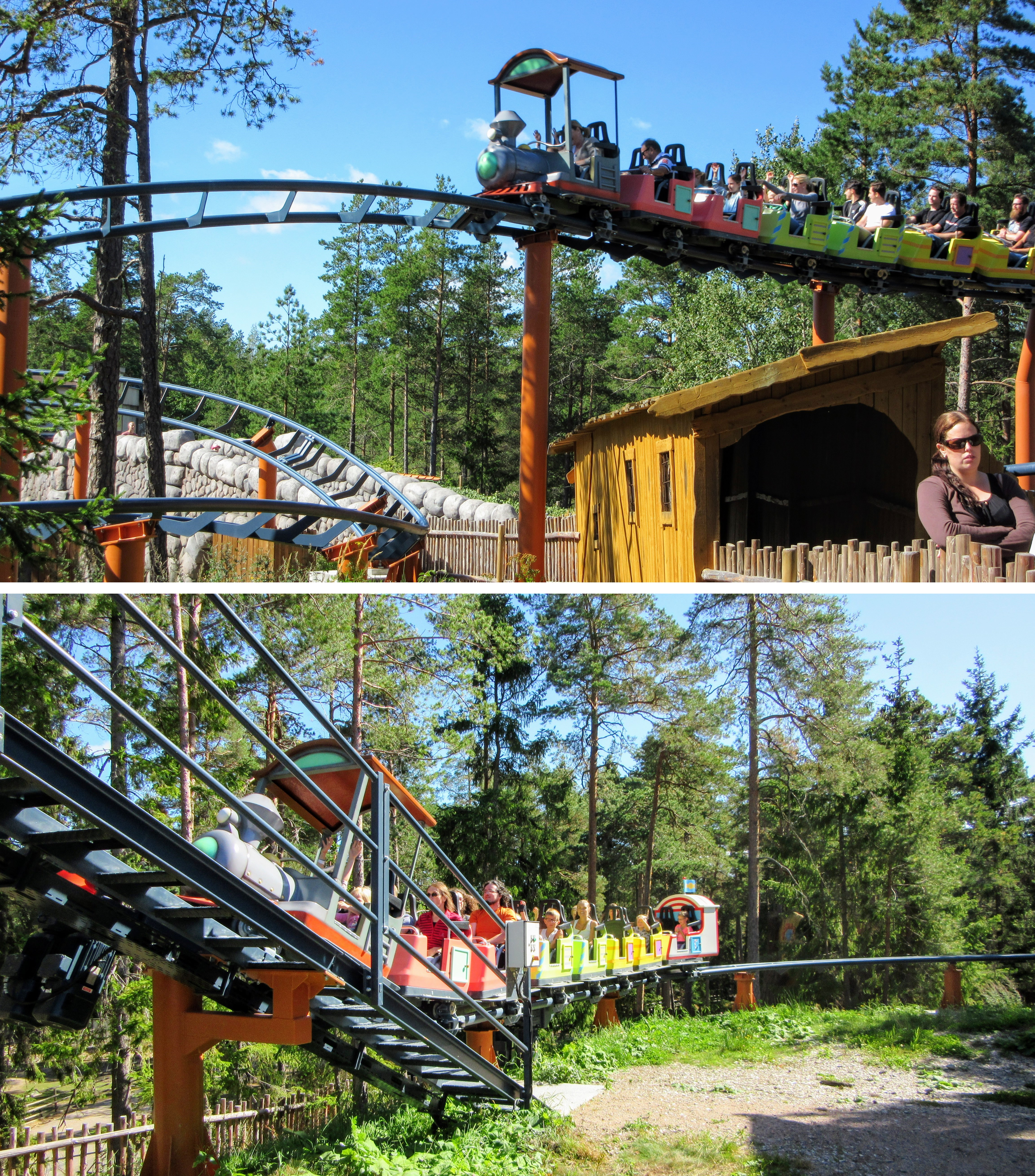 Godiståget coaster at Kolmården Wildlife Park.
