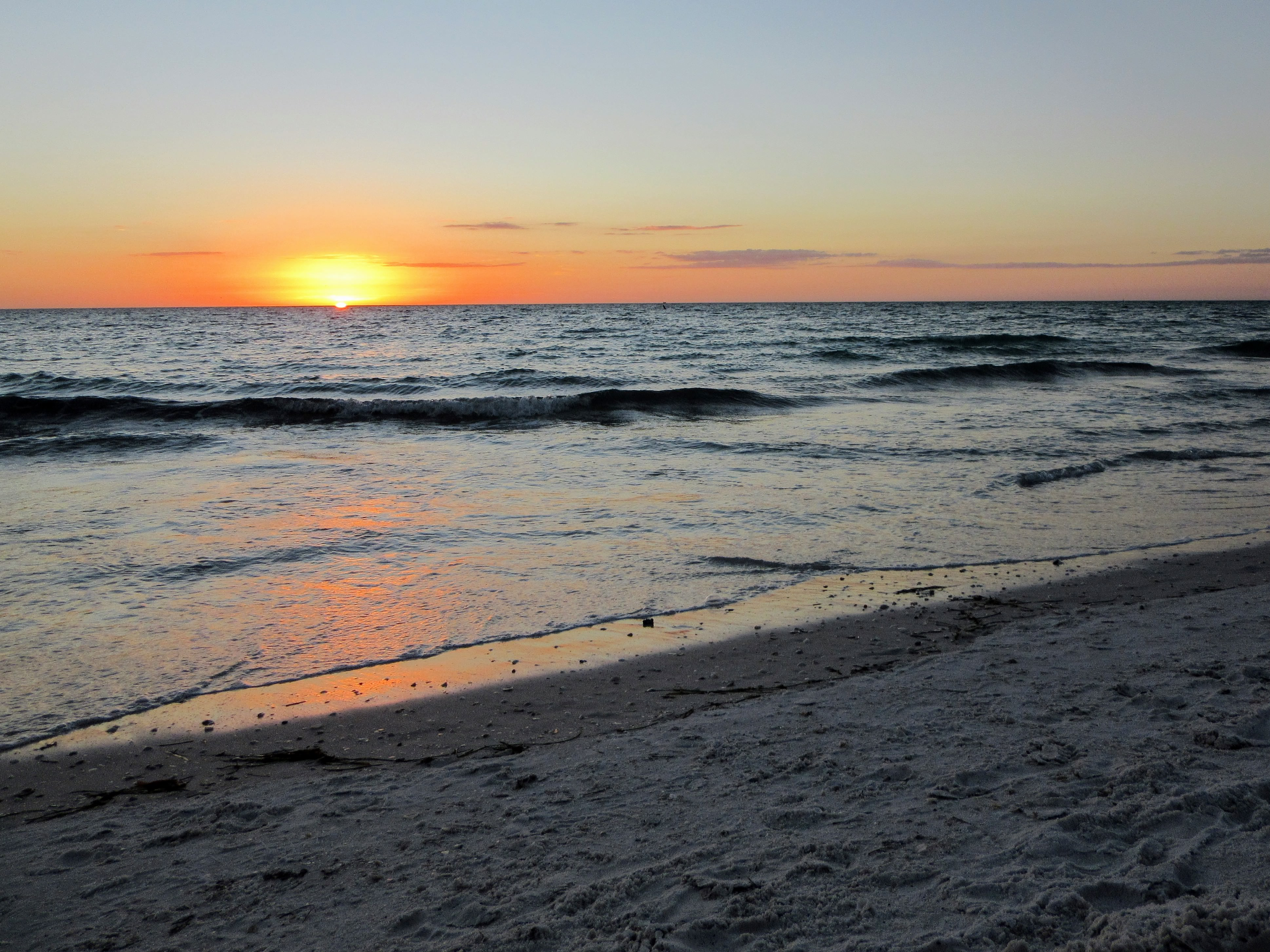 Watching the sunset on Bean Point Beach.