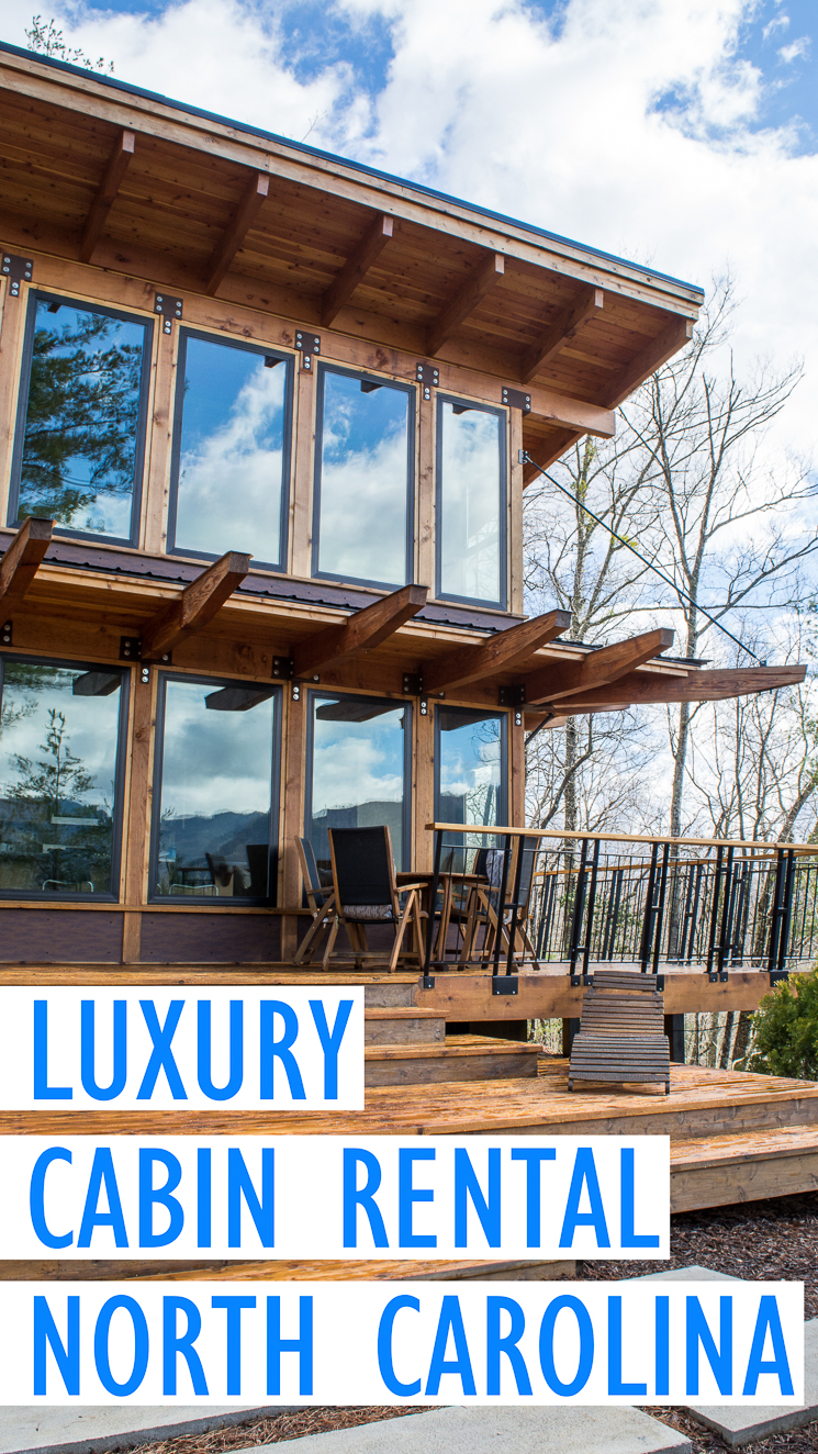 The Stecoah House is a two story luxury cabin rental located 20 minutes from the heart of Bryson City in North Carolina.  Its stunning floor to ceiling windows, open loft design, and 180 degree mountain views make it a dreamy vacation spot.