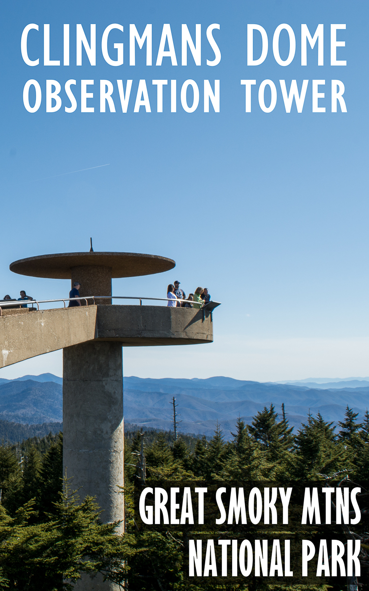 Clingmans Dome and Observation Tower in North Carolina.