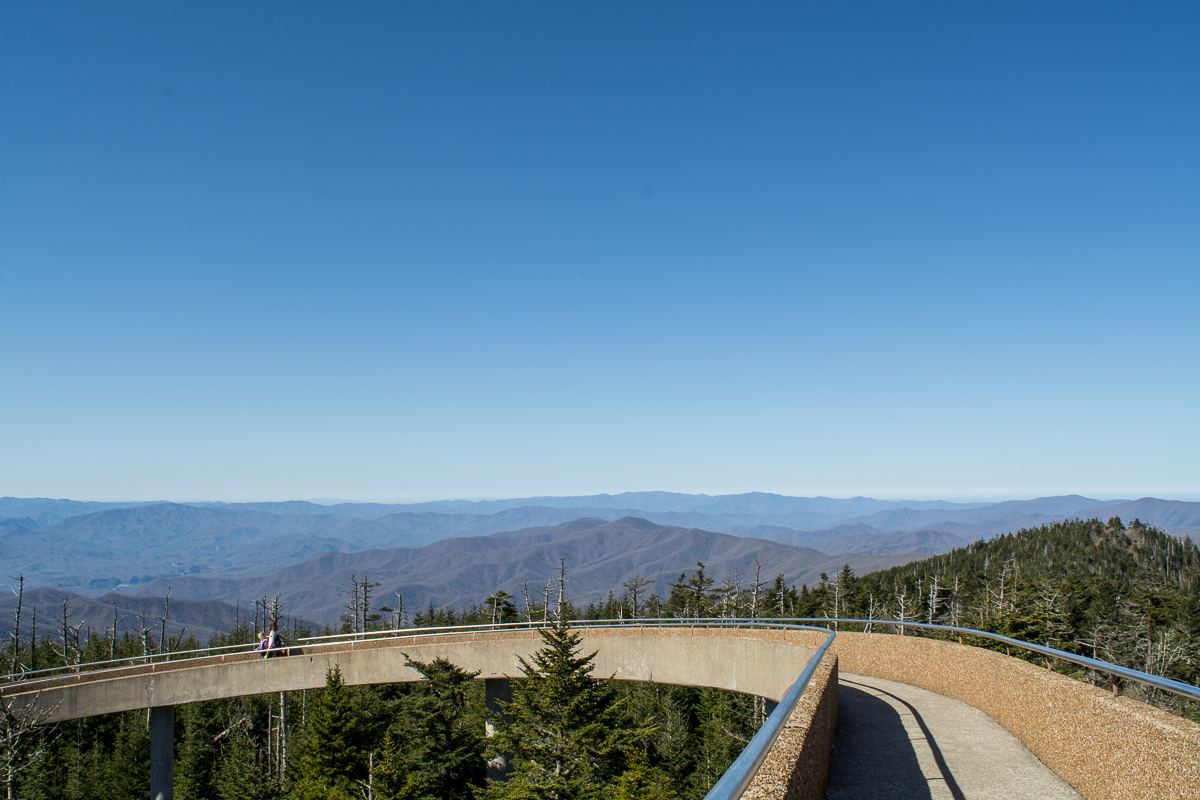 View from the observation tower at Clingmans Dome.