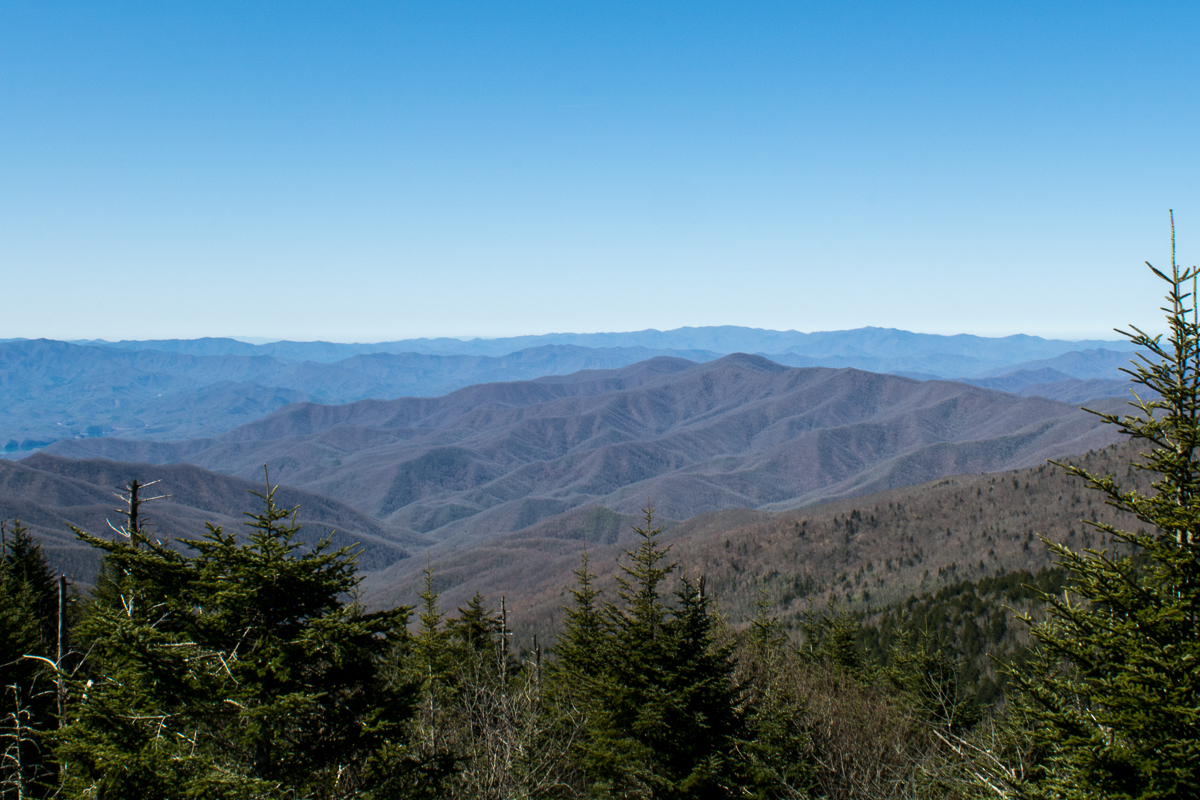 View from the visitor's center. | Visiting Clingmans Dome and Observation Tower in North Carolina.