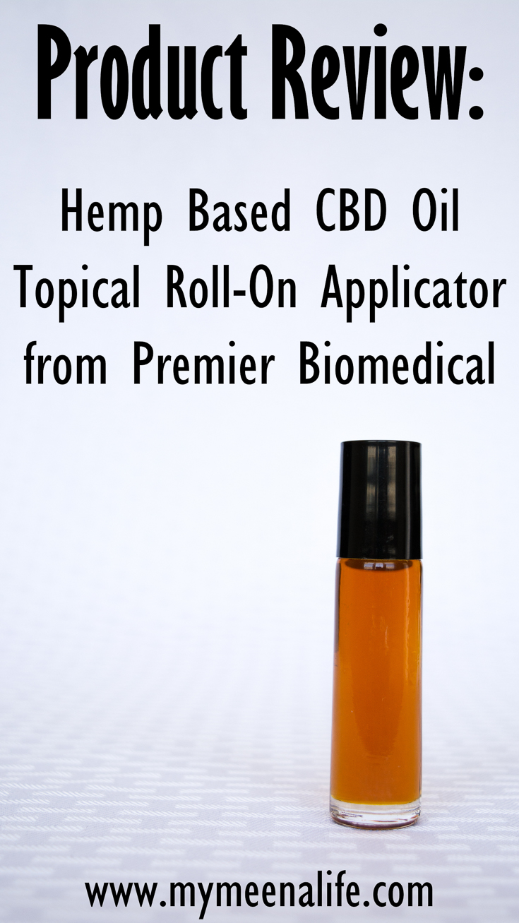 Is hemp based CBD oil effective for chronic pain? Is it legal? Get those answers and more in this review of the roll-on topical applicator from Premier Biomedical. #ad #spon Using Hemp Based CBD Oil for Chronic Pain (Product Review). | My Meena Life Sponsored Content.