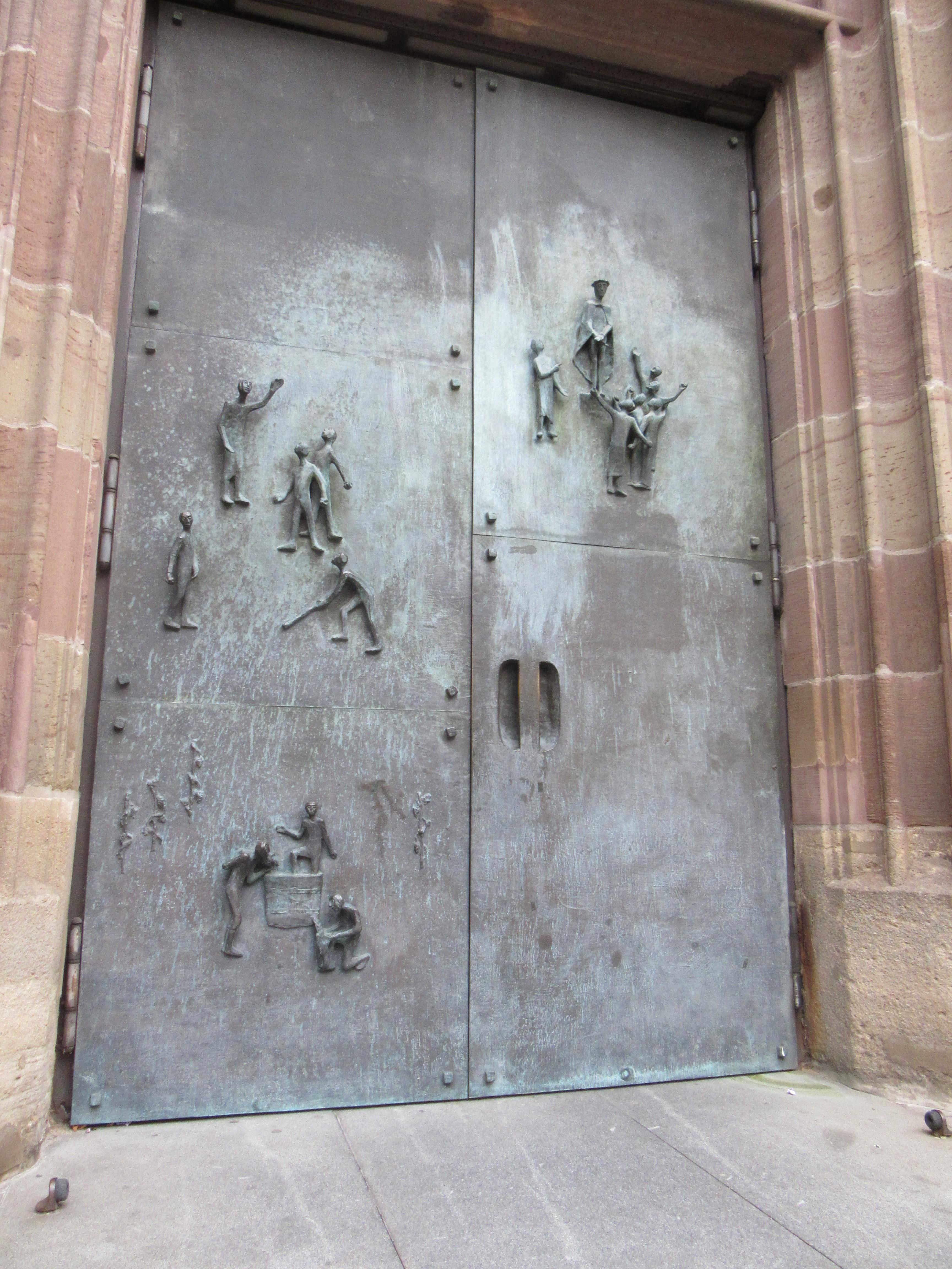 The door to the Stadtkirche in Bad-Cannstatt, Stuttgart.