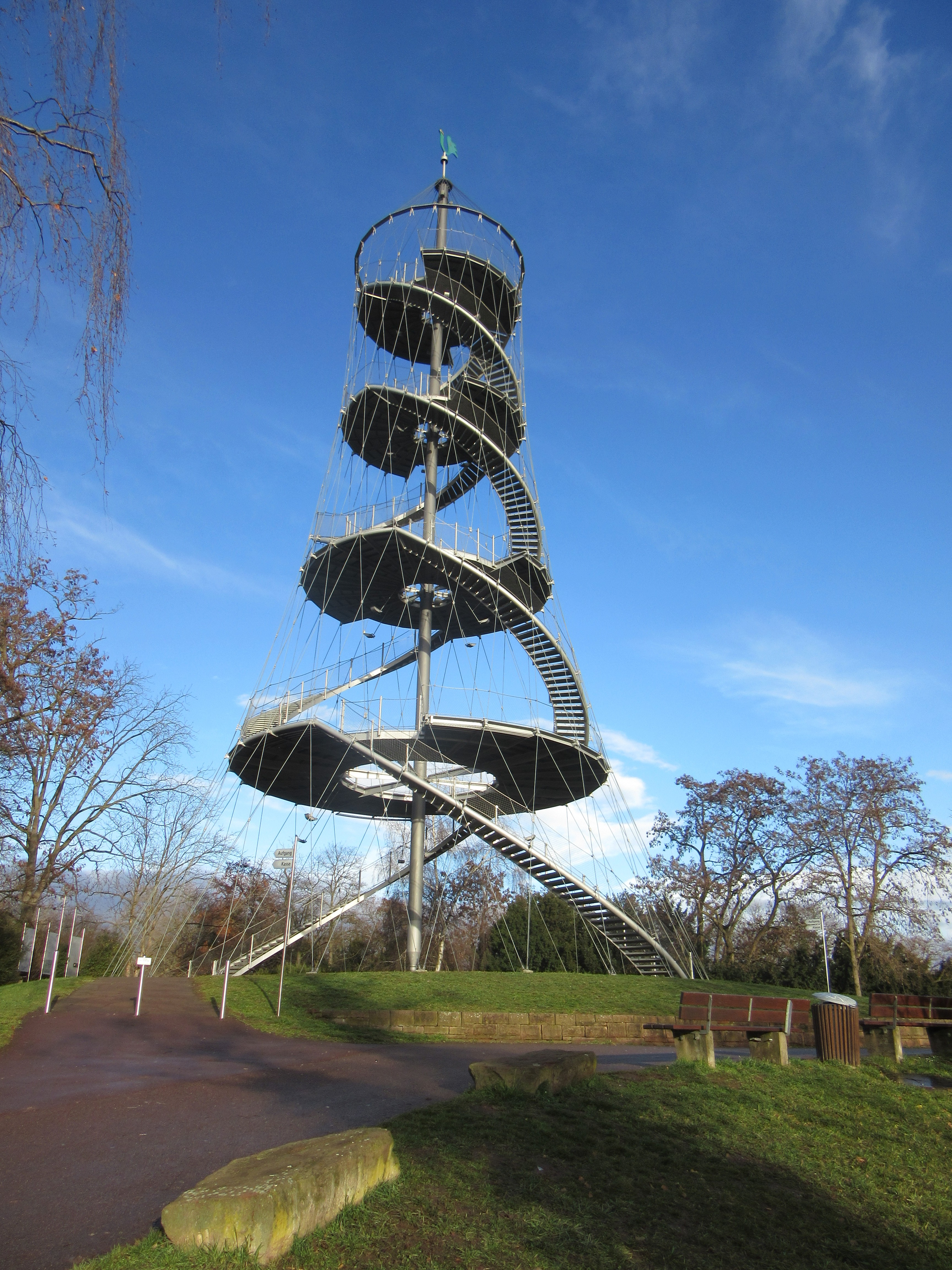 The tower in Killesberg Park.