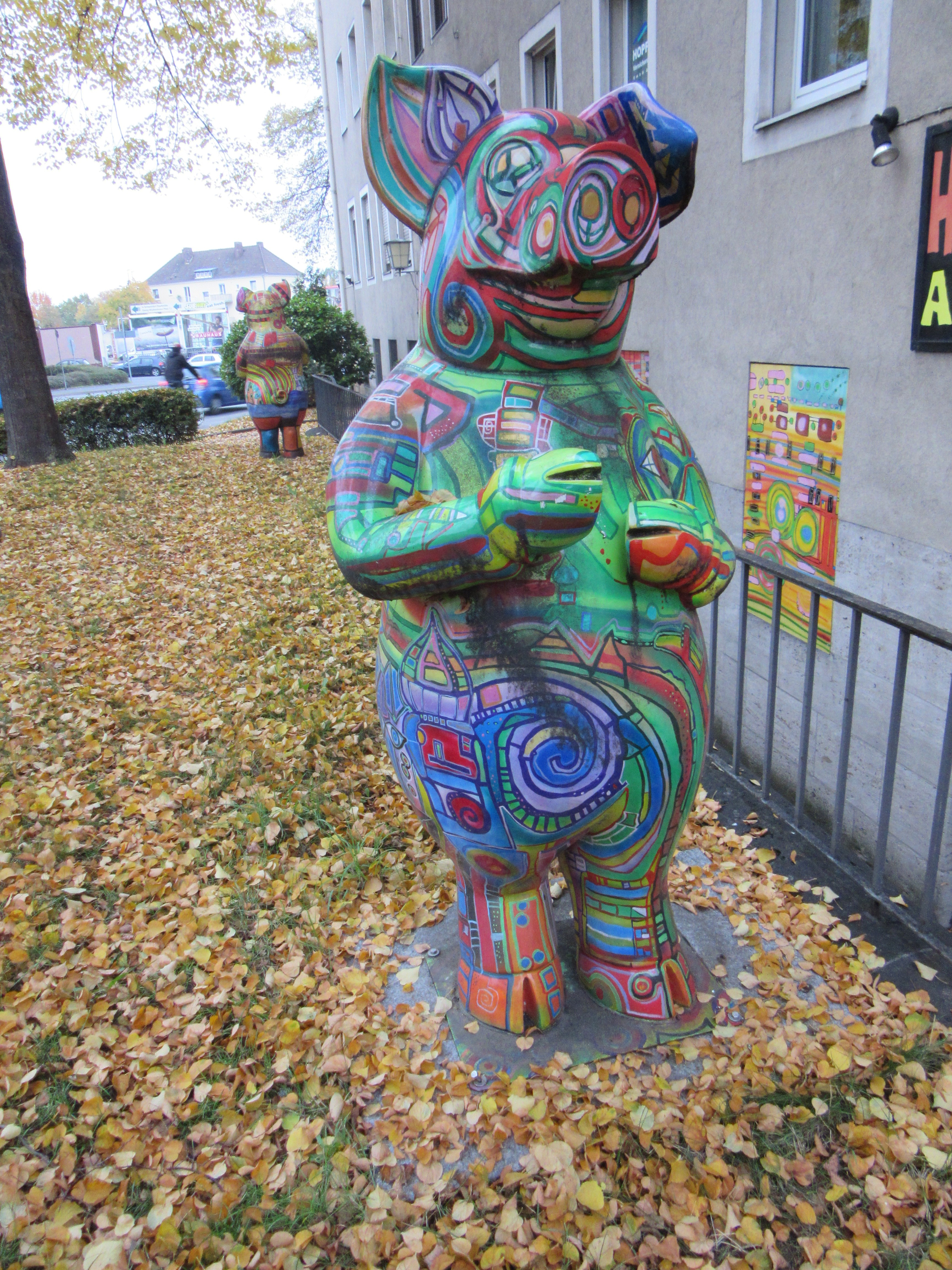 One of the more colorful Schweinfurt pigs.