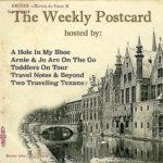 The weekly postcard linkup badge.