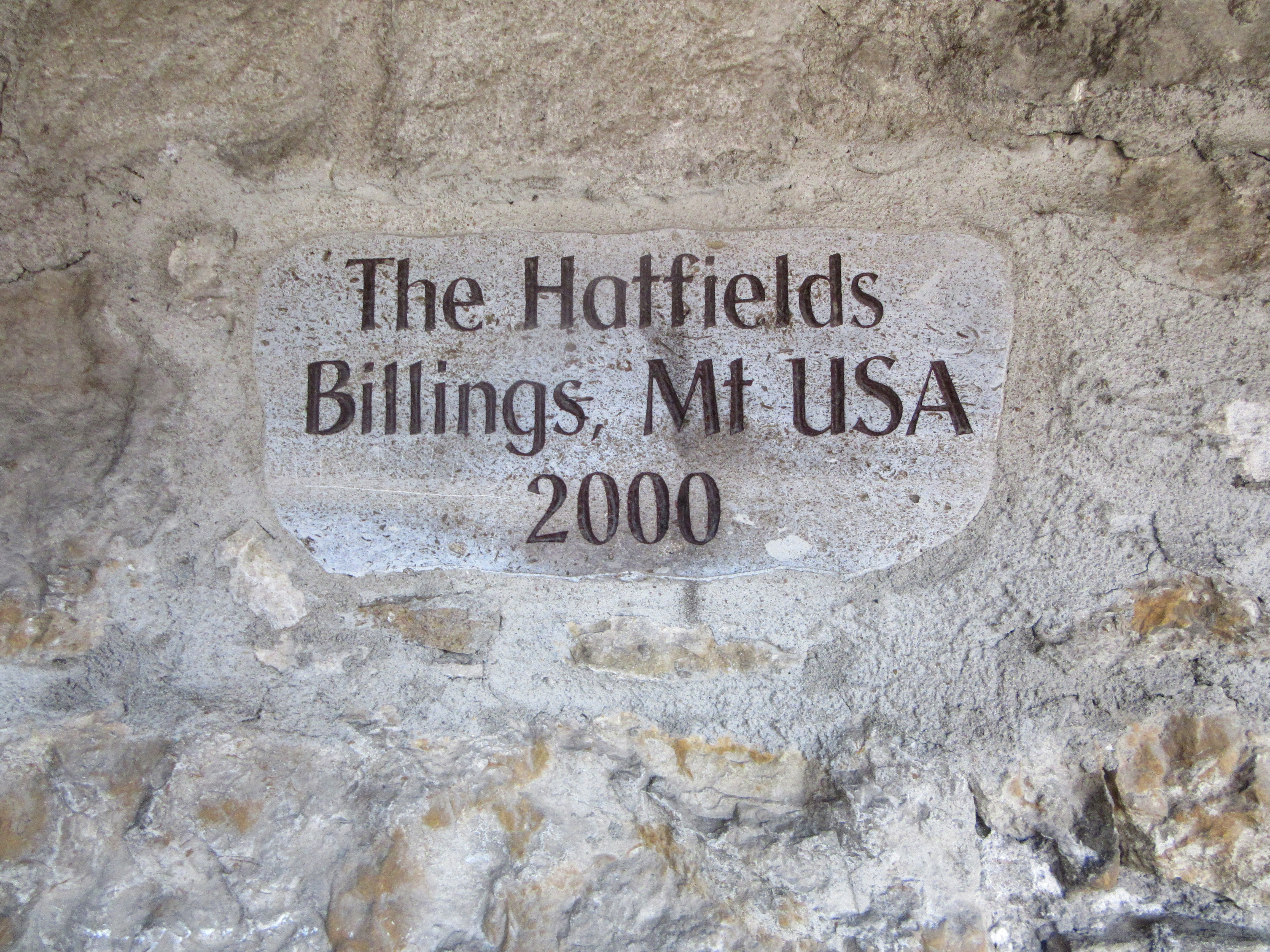A donation plaque. | Walking Along the Wall of Rothenburg ob der Tauber.