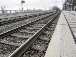 Train tracks in Germany.| One Year Without a Vehicle.