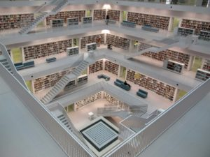 Inside the Stuttgart Library. | On Traveling Europe Together.