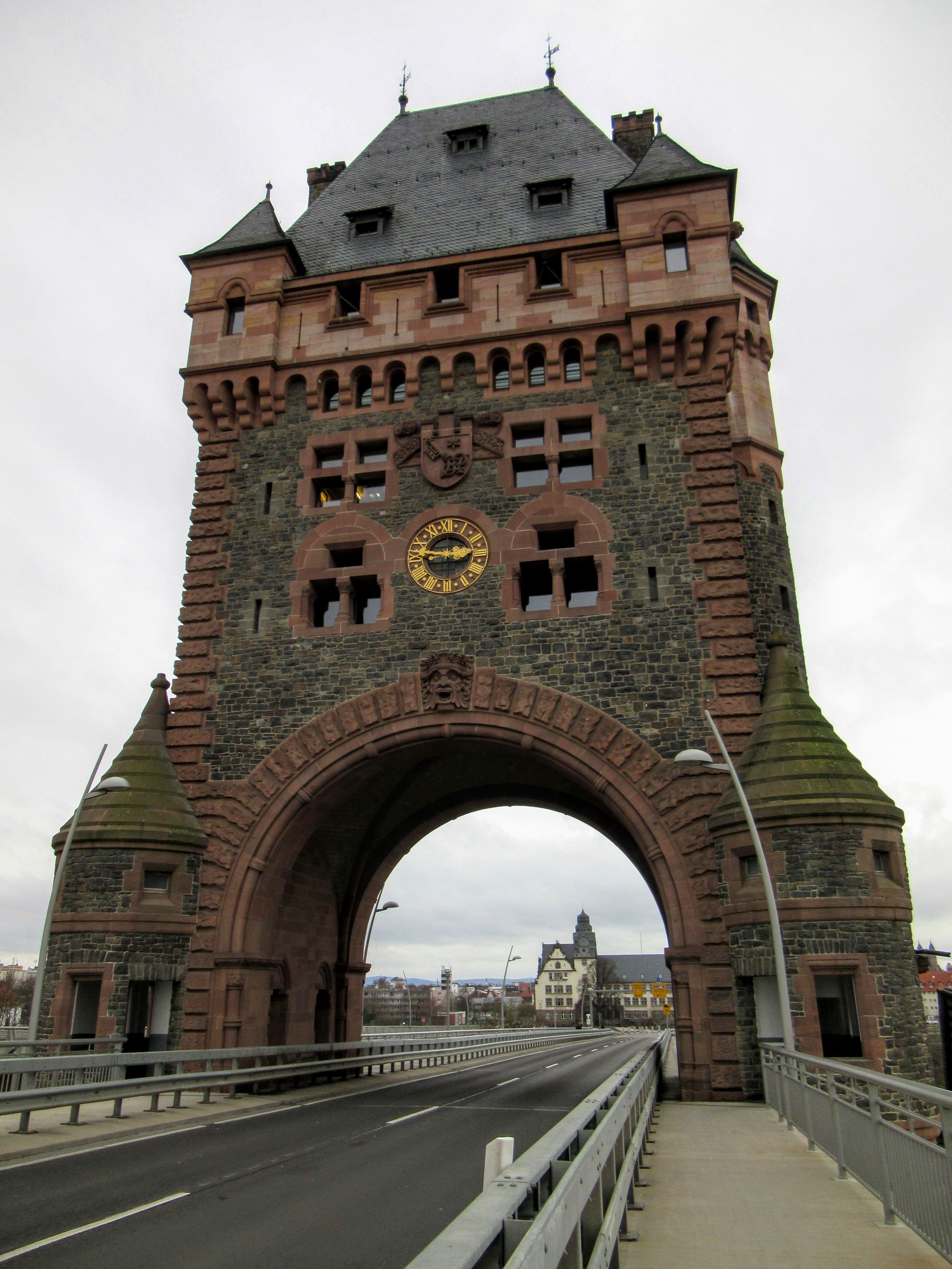 The historic bridge tower in Worms, Germany. | On Traveling Europe Together.