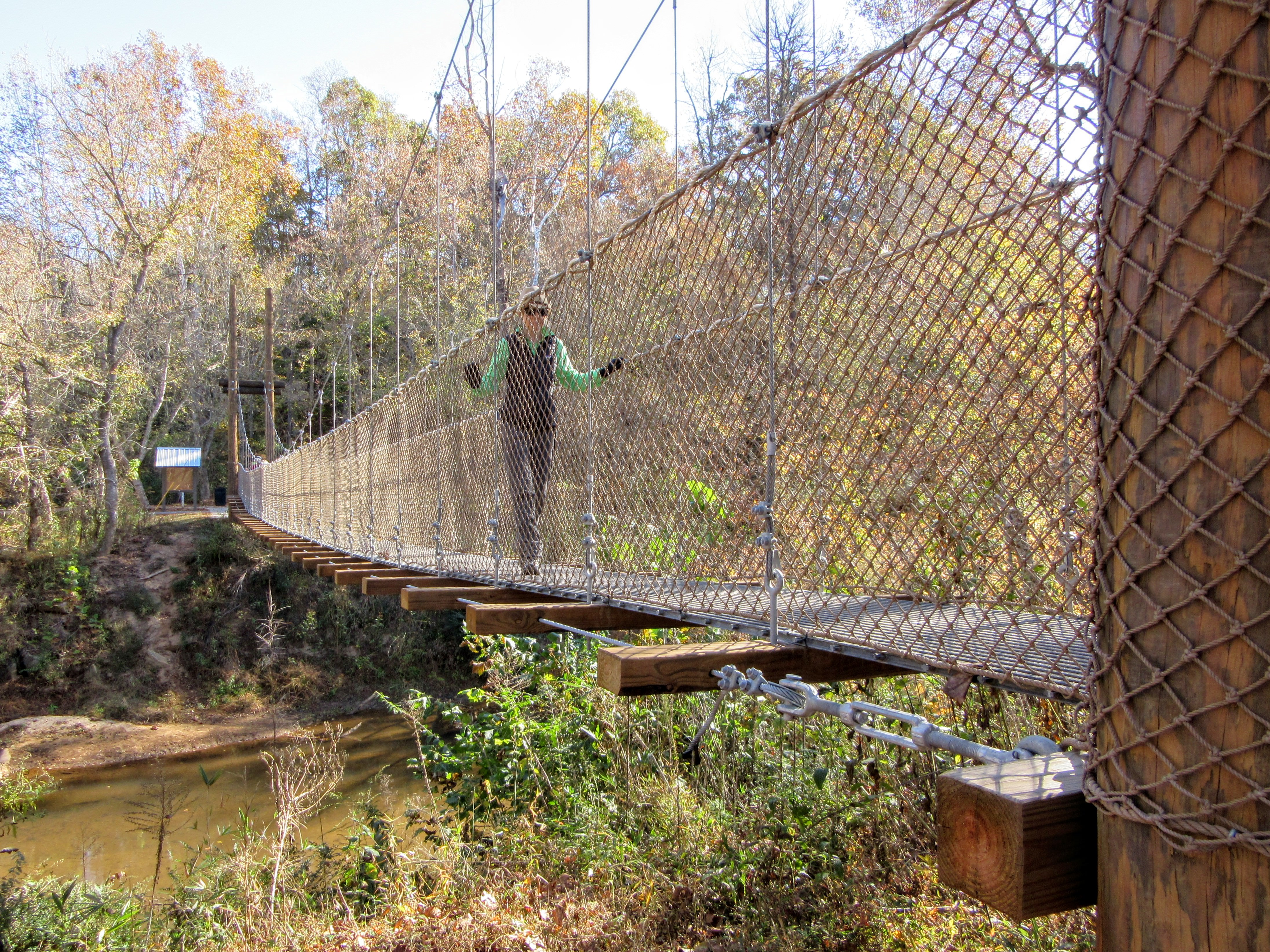 Crossing over the river. | Hiking in Shelby, North Carolina: the First Broad River Trail.
