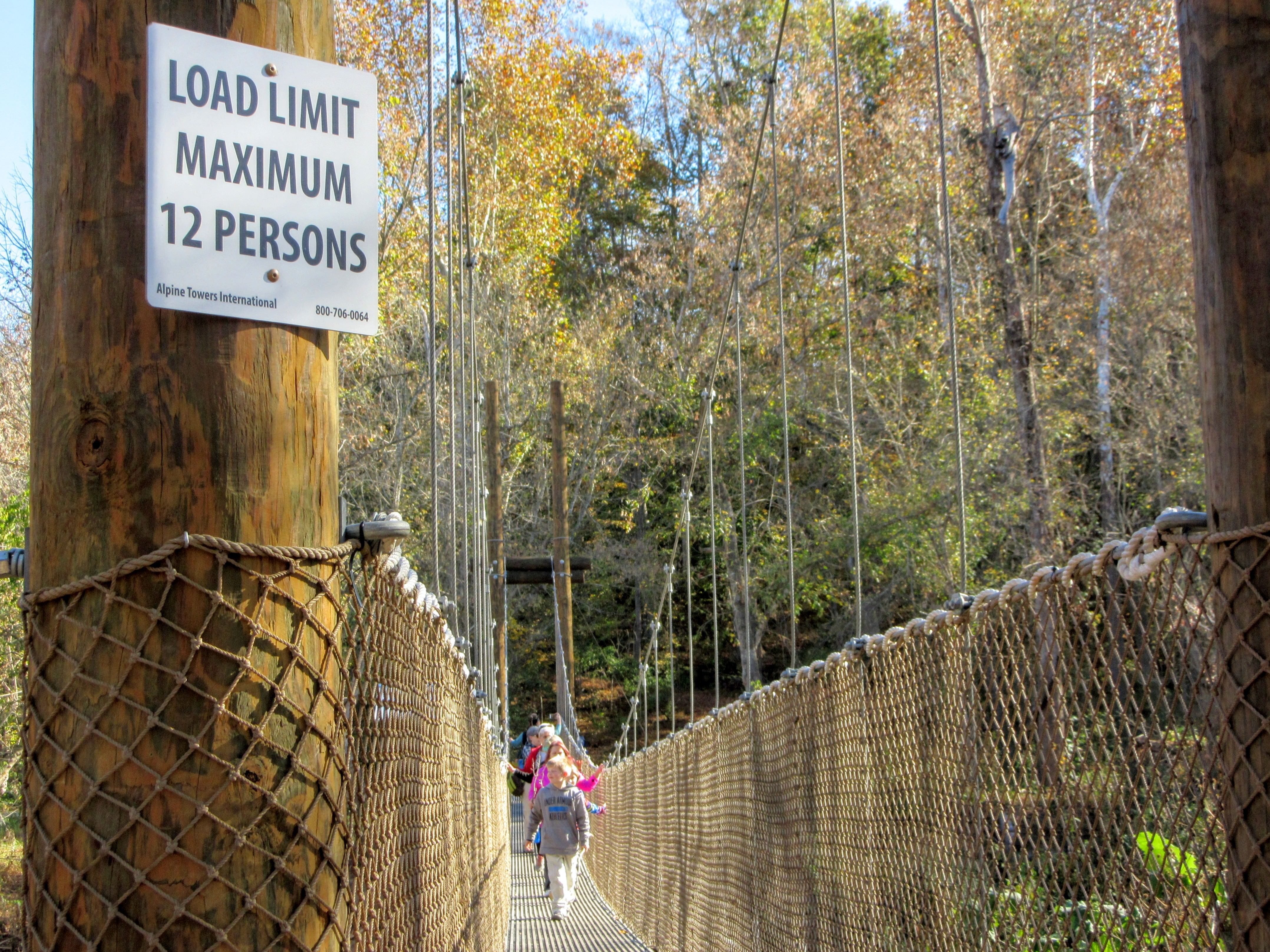 Load limit sign. | Hiking in Shelby, North Carolina: the First Broad River Trail.