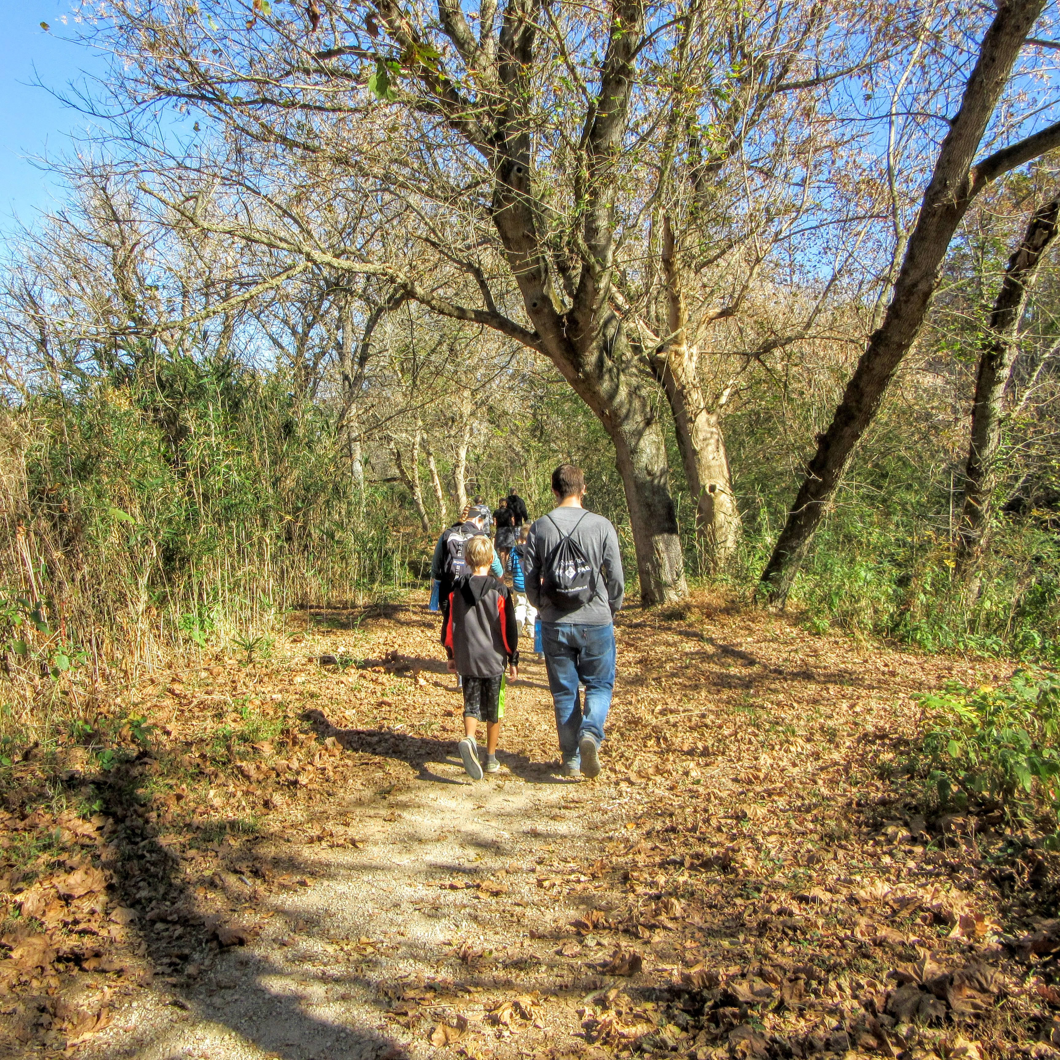 Hiking in a group. | Hiking in Shelby, North Carolina: the First Broad River Trail.