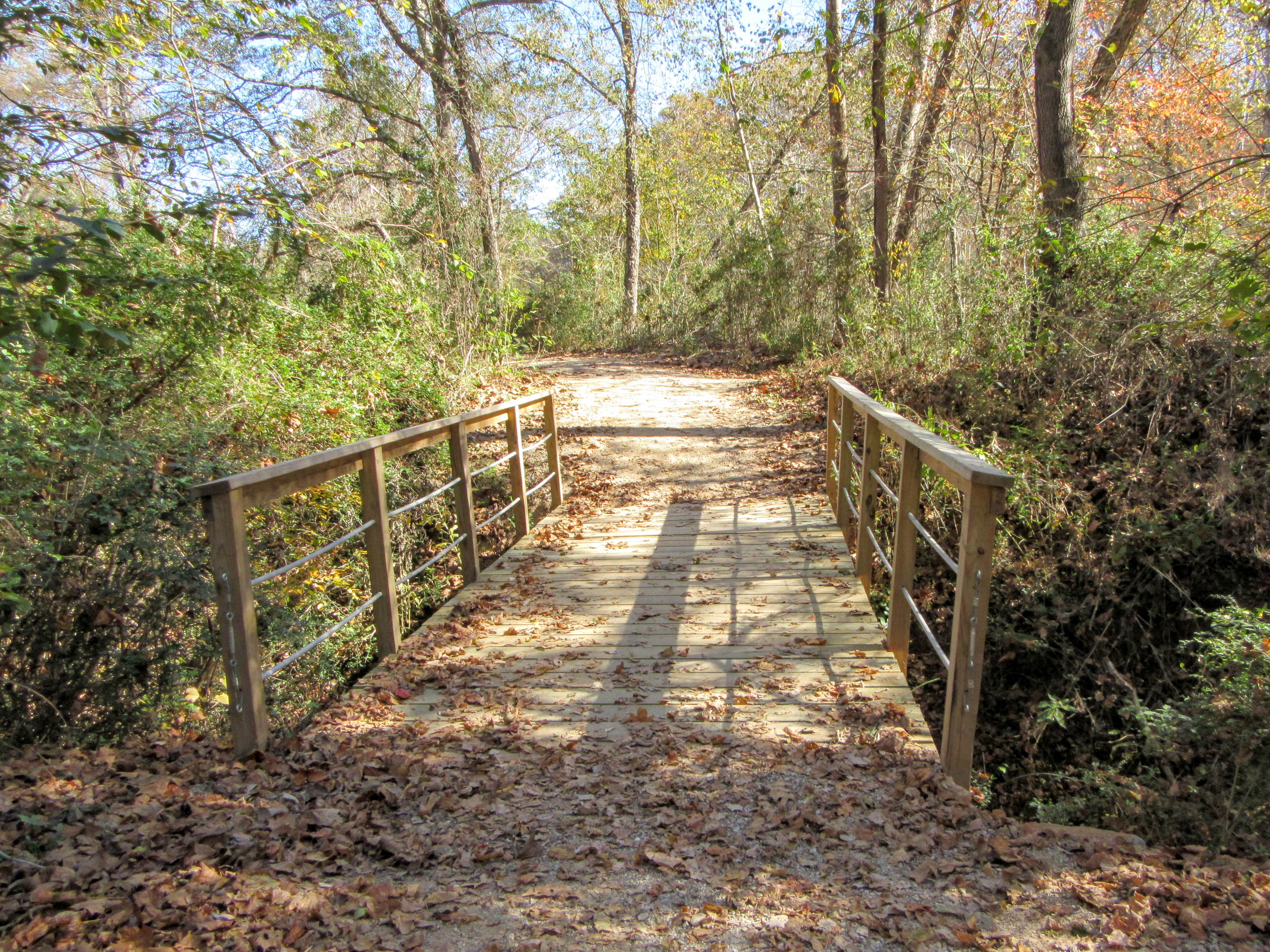 A footbridge. | Hiking in Shelby, North Carolina: the First Broad River Trail.