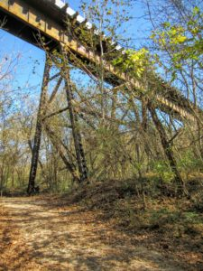 Historic railroad trestle bridge. | Hiking in Shelby, North Carolina: the First Broad River Trail.