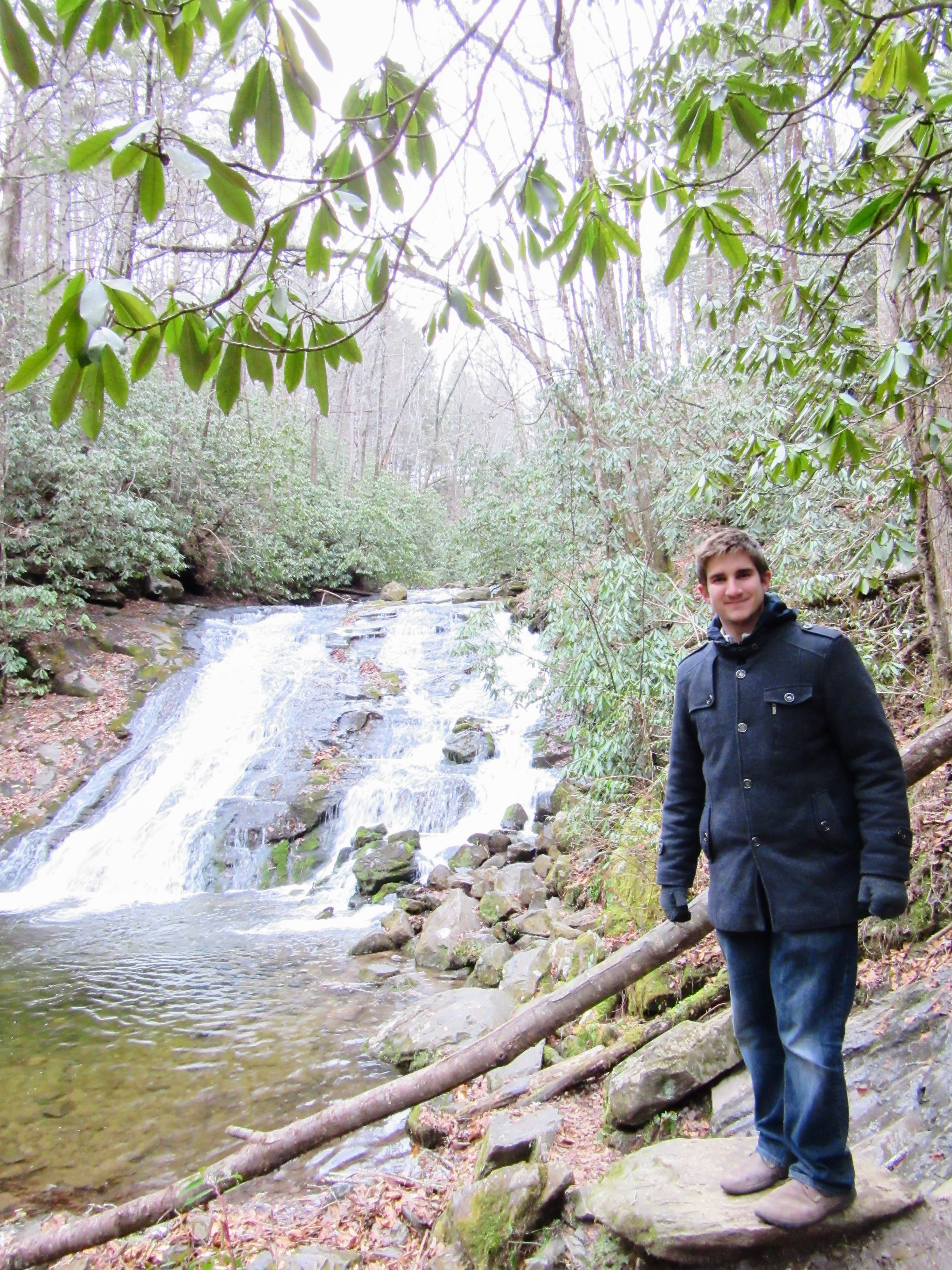Mr. Meena at Indian Creek Falls in the GSMNP. | 100 Days Back Home.