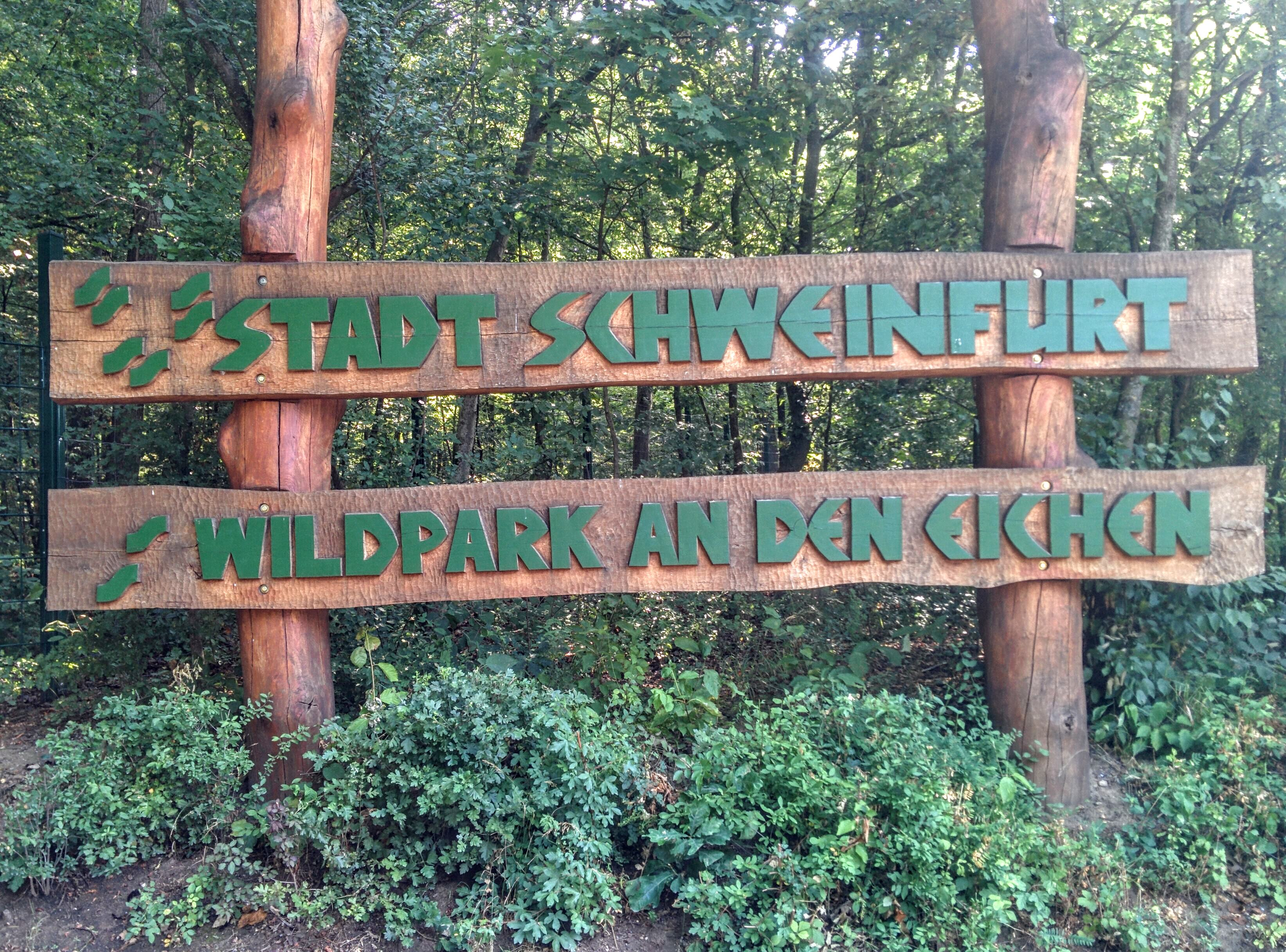 Wildpark sign. | A Day in the Life: Expat in Small Town Germany.
