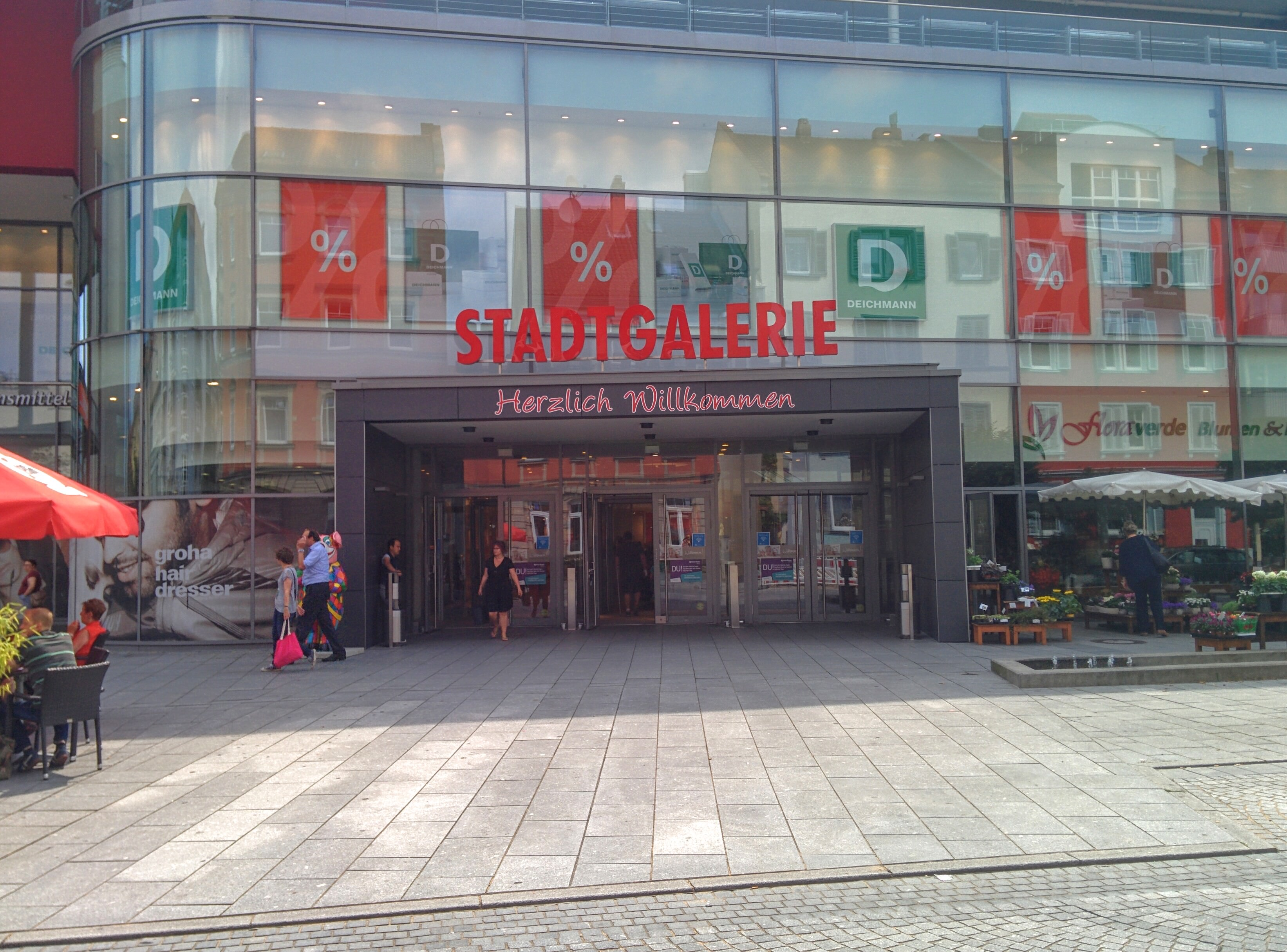 City mall entrance. | A Day in the Life: Expat in Small Town Germany.