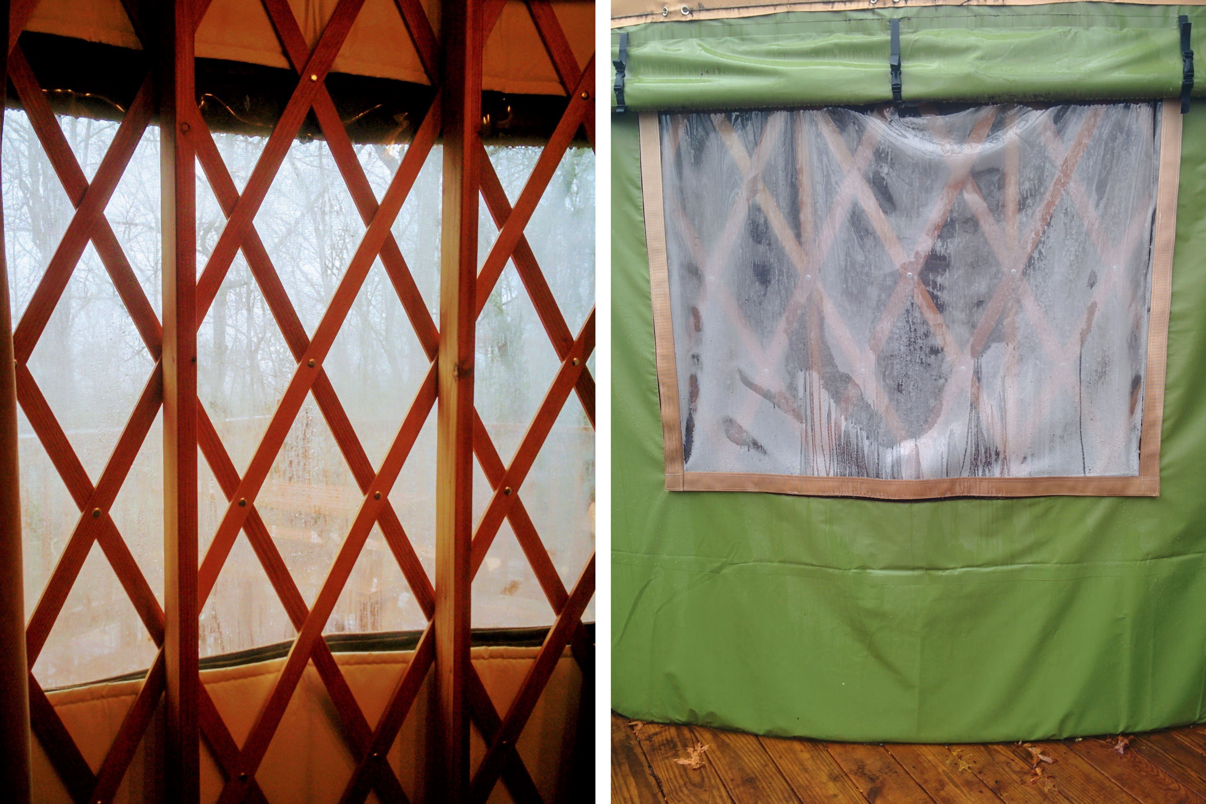Windows of our yurt. | Glamping at the Sky Ridge Yurts.
