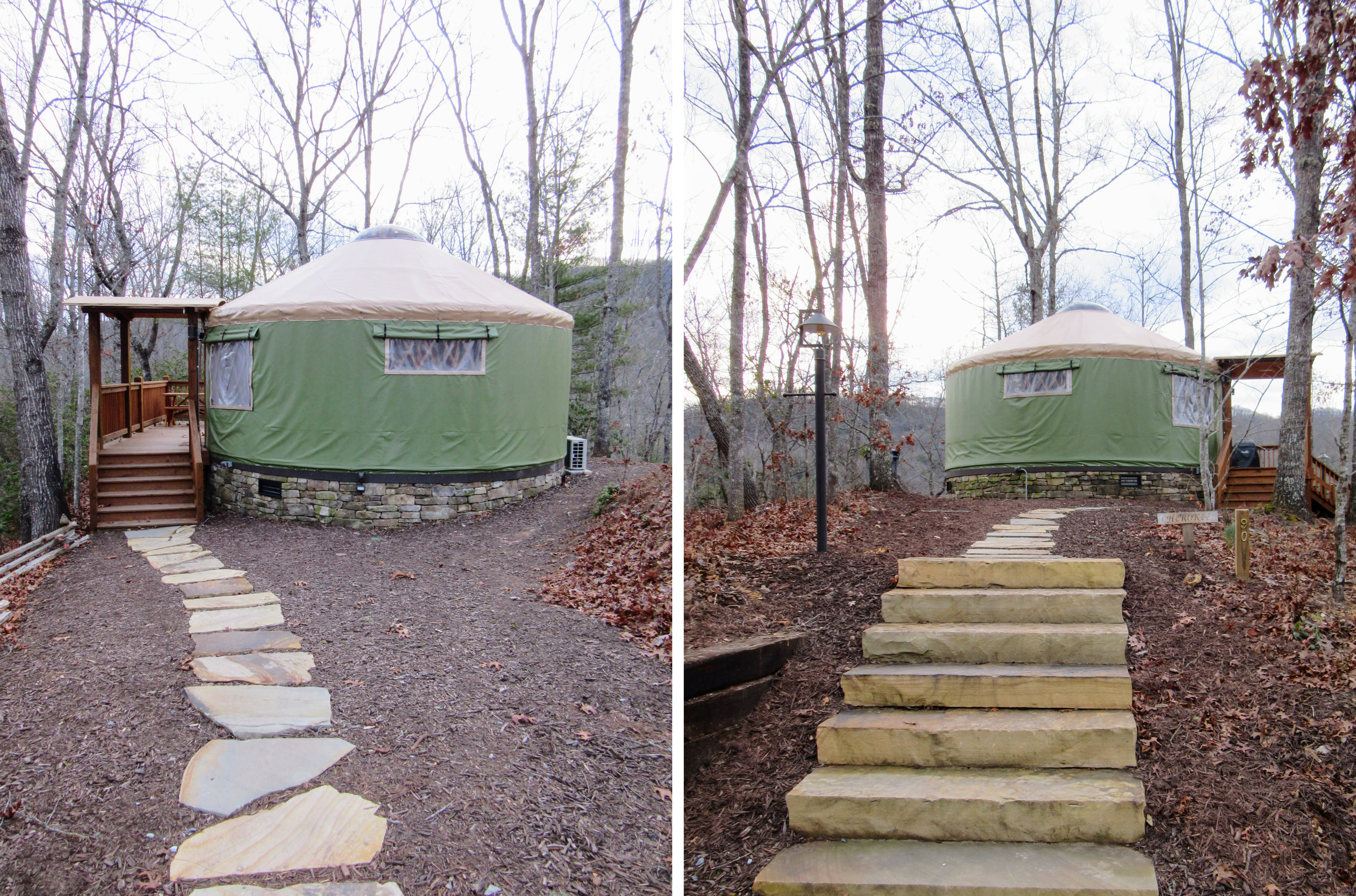 Insert: The smaller 20 foot yurts. | Glamping NC: the Sky Ridge Yurts.