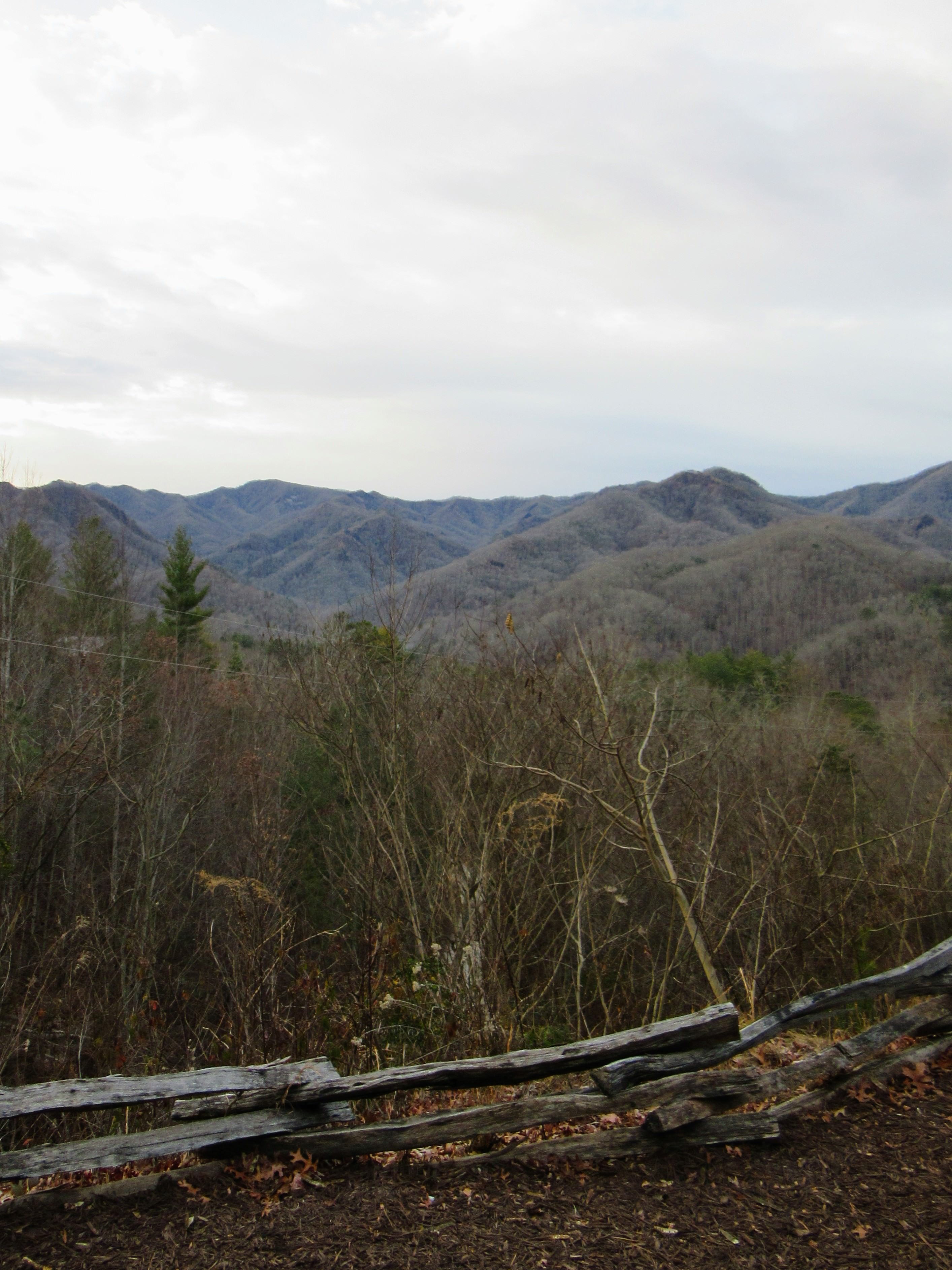 Looking across the Nantahala Gorge from the Sky Ridge Yurts. | Glamping NC.