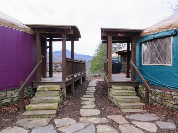 Glamping NC: Staying at the Sky Ridge Yurts near Bryson City. | My Meena Life