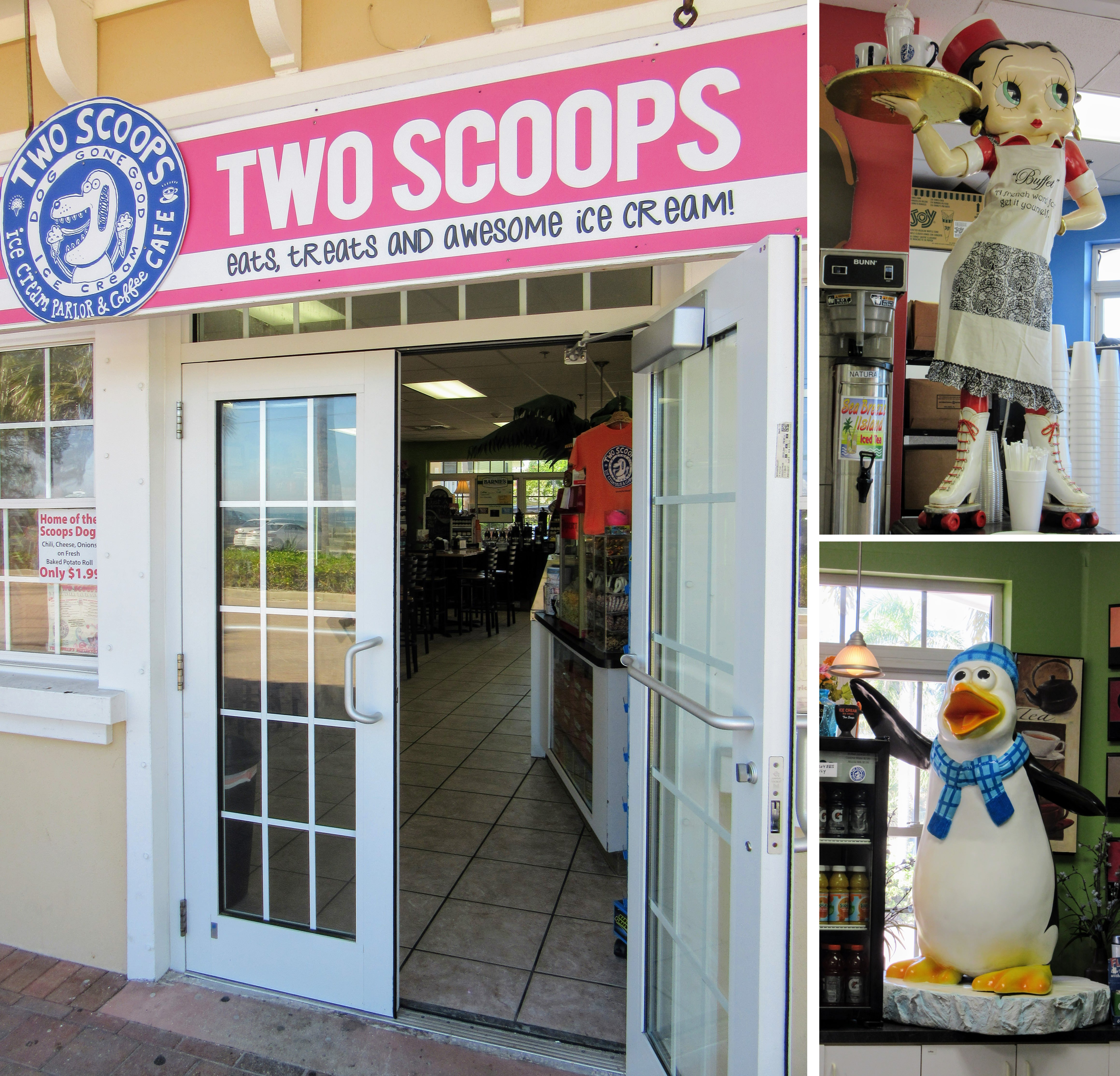 Two Scoops Ice Cream and Eatery on Anna Maria Island.