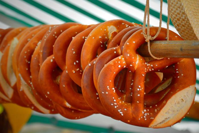 German pretzels. Photo by superscheeli via Flickr.