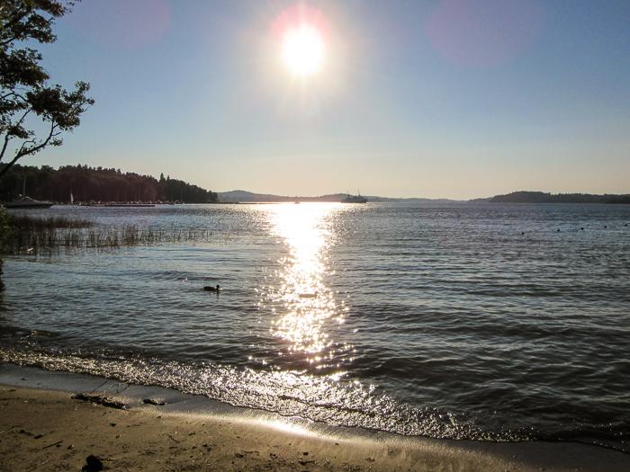 Enjoying Sätrastrandsbadet beach in Sweden.   10 Reasons Why Sweden Felt Like Home.