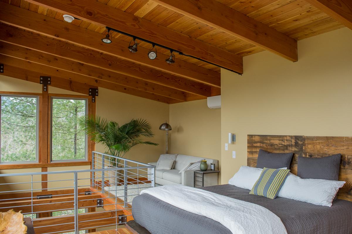 The loft. | Luxury cabin rental in North Carolina.