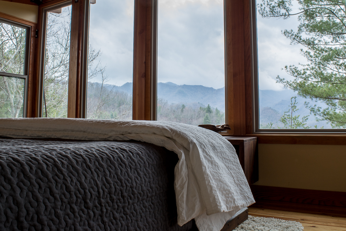 Bedroom view. | The Stecoah House.