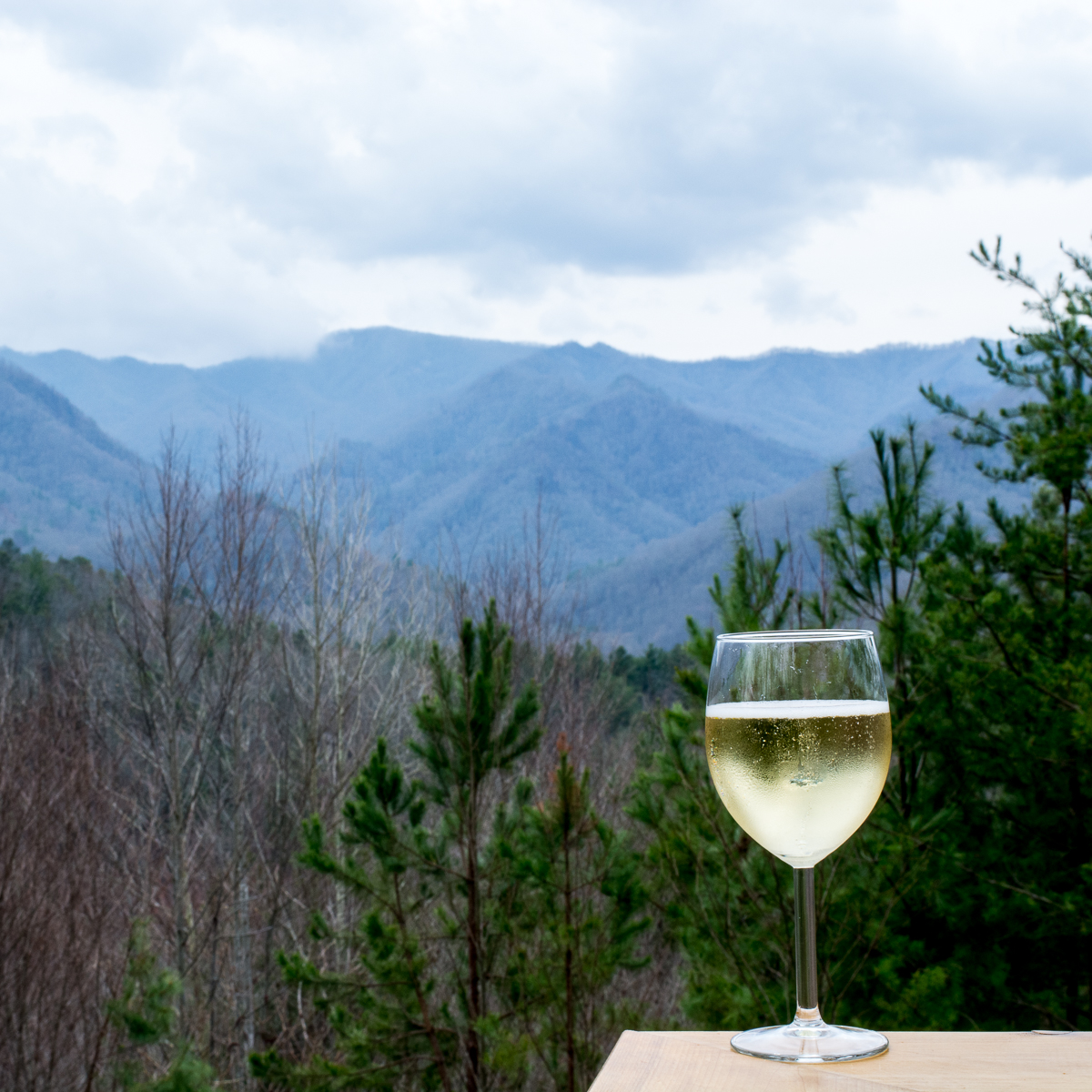 Wine time in the mountains.