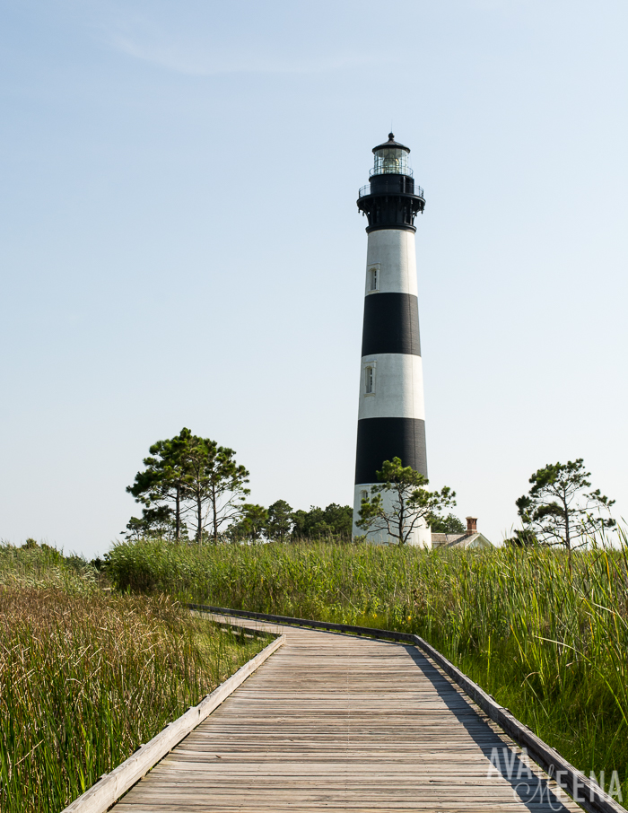 Bodie Island Lighthouse – view from the boardwalk | Bodie Island | Nags Head, Outer Banks | Outer Banks Lighthouses | A Guide to the Lighthouses of the OBX, North Carolina | Lighthouses in the Outer Banks | Lighthouses in North Carolina | North Carolina Lighthouses