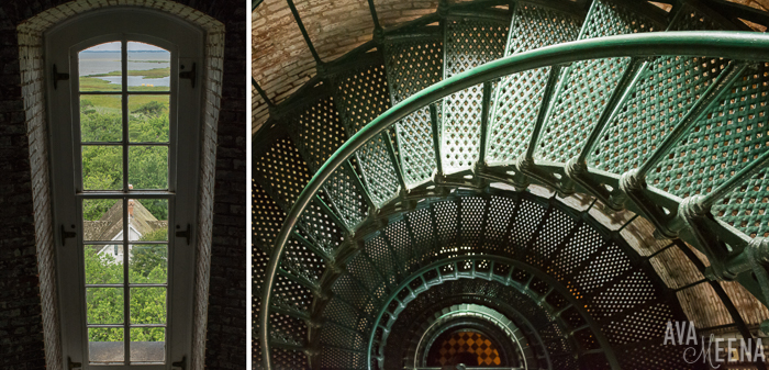 Currituck Beach Lighthouse U2013 Interior Stairs And Window. | Outer Banks  Lighthouses | A Guide