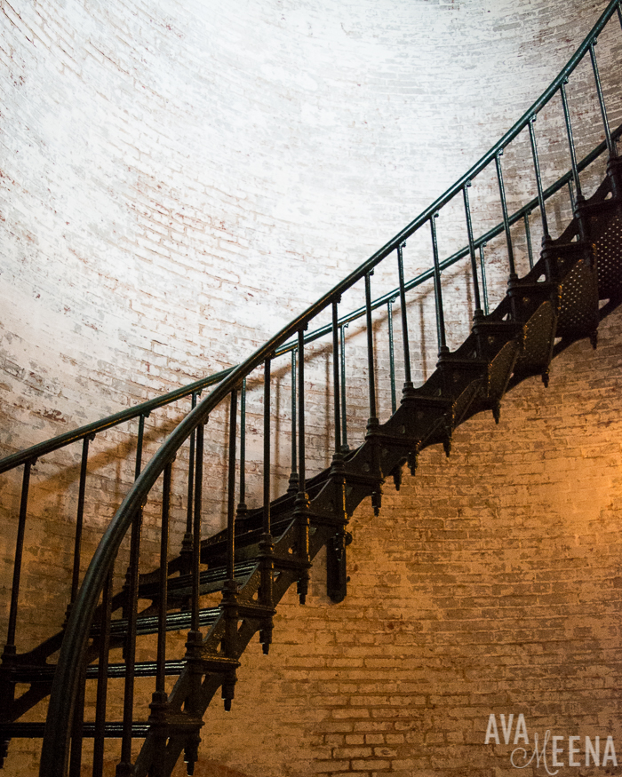 Currituck Beach Lighthouse – interior stairs. | Currituck | Corolla, Outer Banks | Outer Banks Lighthouses | A Guide to the Lighthouses of the OBX, North Carolina | Lighthouses in the Outer Banks | Lighthouses in North Carolina | North Carolina Lighthouses