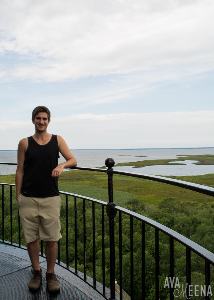 Currituck Beach Lighthouse – view from the top. | Currituck | Corolla, Outer Banks | Outer Banks Lighthouses | A Guide to the Lighthouses of the OBX, North Carolina | Lighthouses in the Outer Banks | Lighthouses in North Carolina | North Carolina Lighthouses