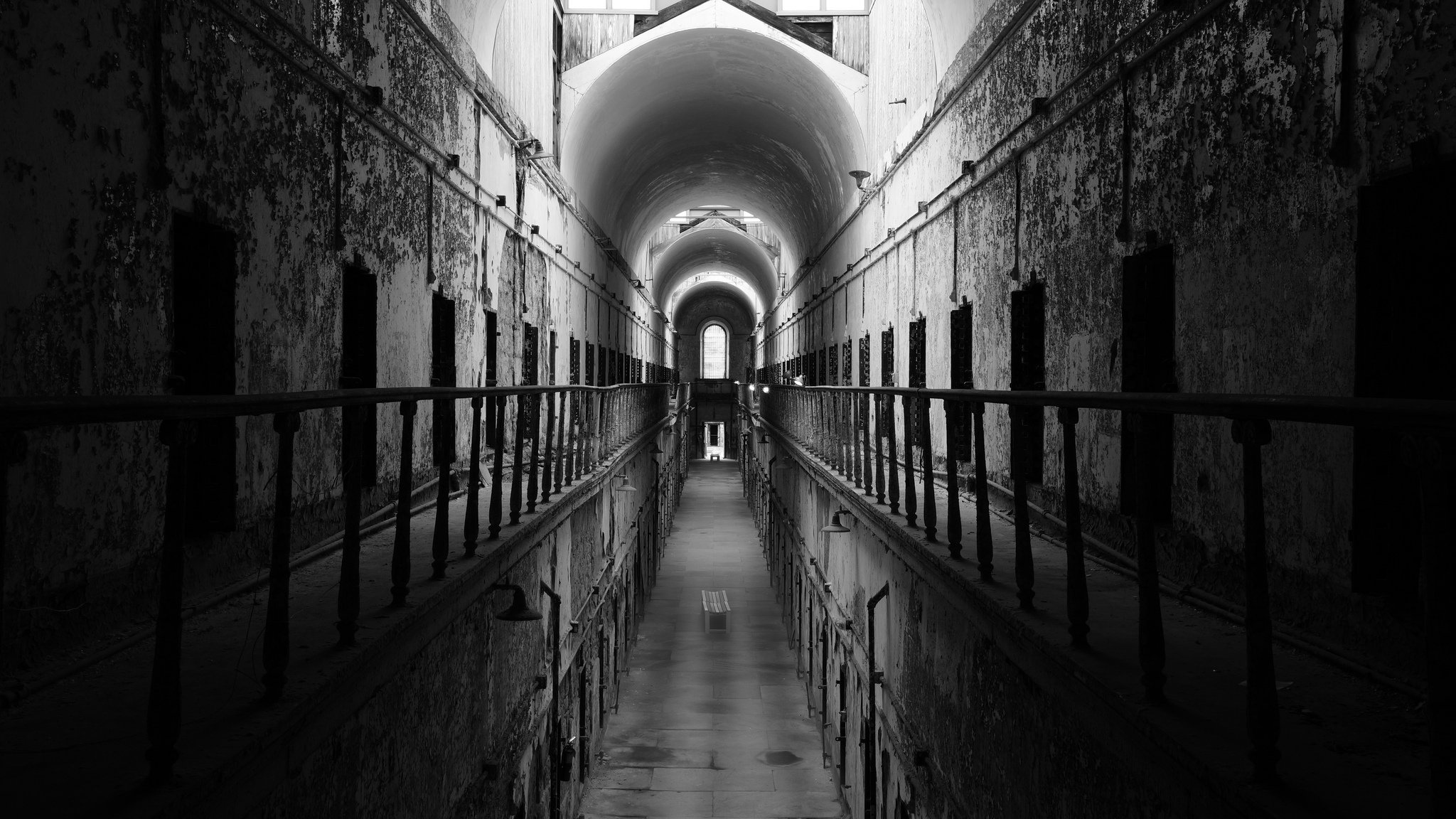 Eastern State Penitentiary | 13 Haunted Places to Travel to for Halloween (Infographic). Photo via Flickr licensed under CC BY 2.0.