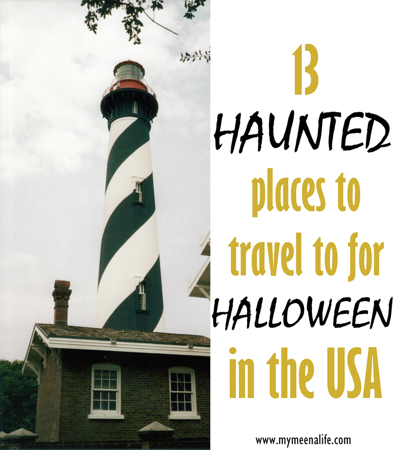 #ad #sponsored 13 Haunted Places to Travel to for Halloween (Infographic). (Public Domain Photo via Flickr; modifications were made by My Meena Life.)